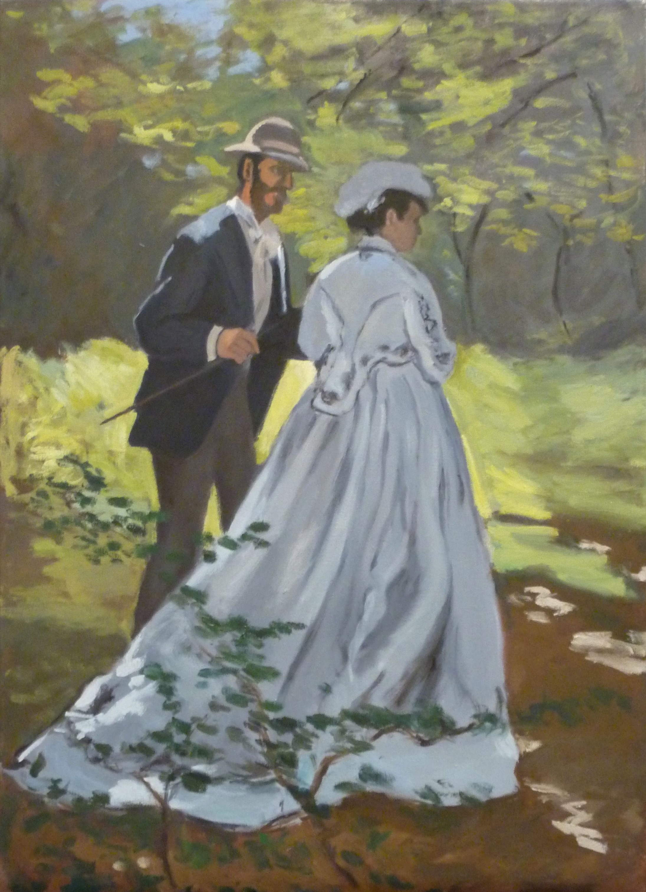 Copy after Claude Monet    Bazille and Camille
