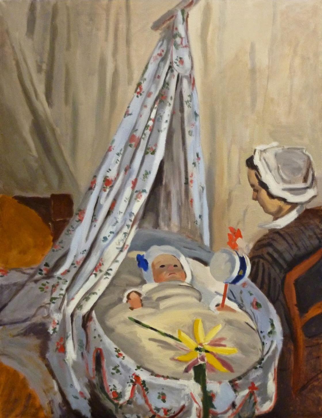 Copy after Claude Monet    The Cradle