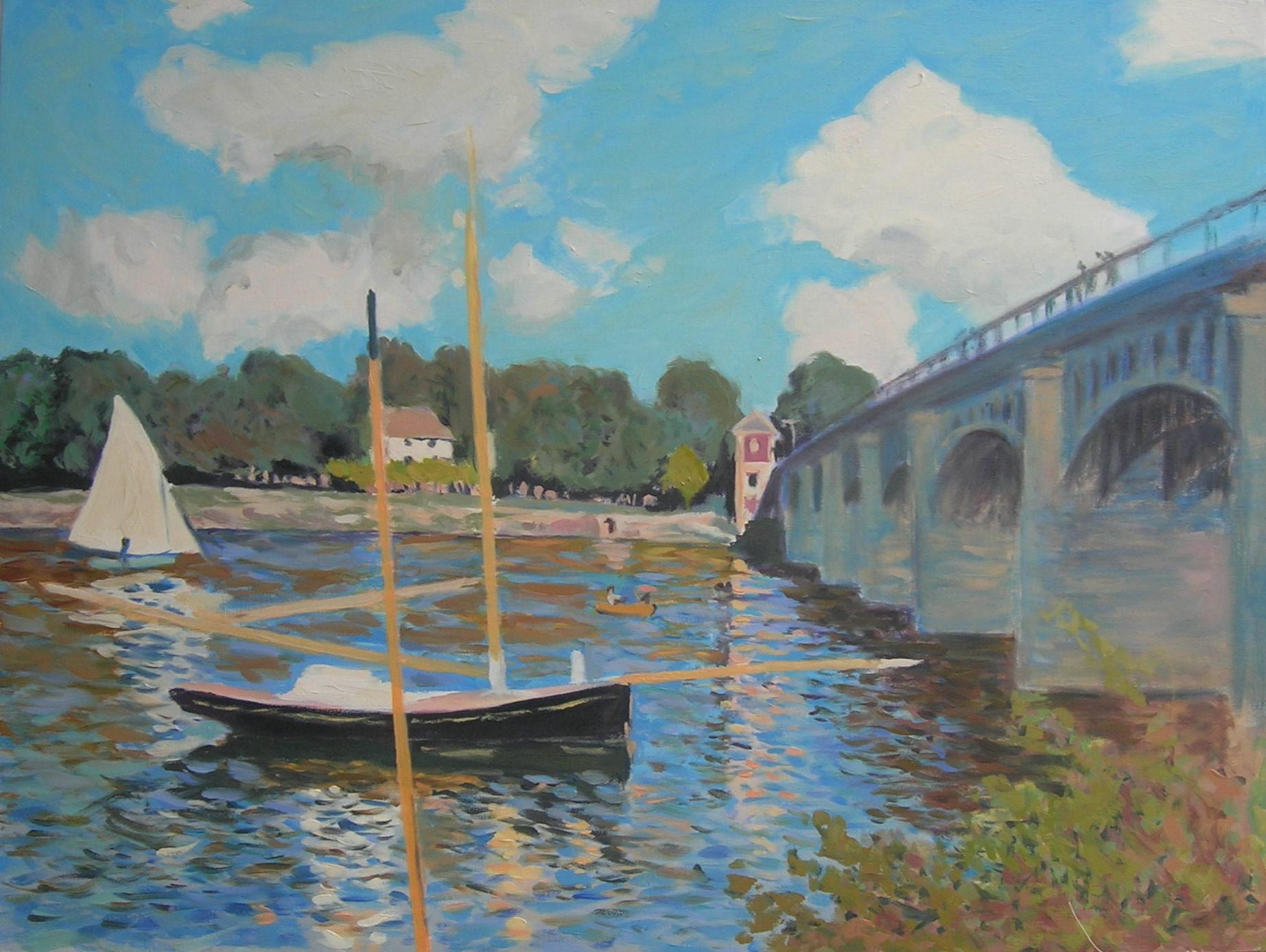 Copy after Claude Monet    The Bridge at Argenteuil