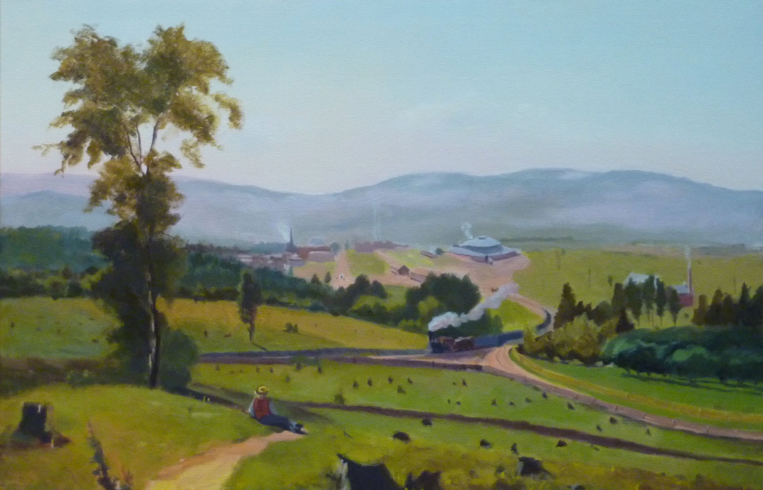 Copy after George Innes    The Lackawanna Valley