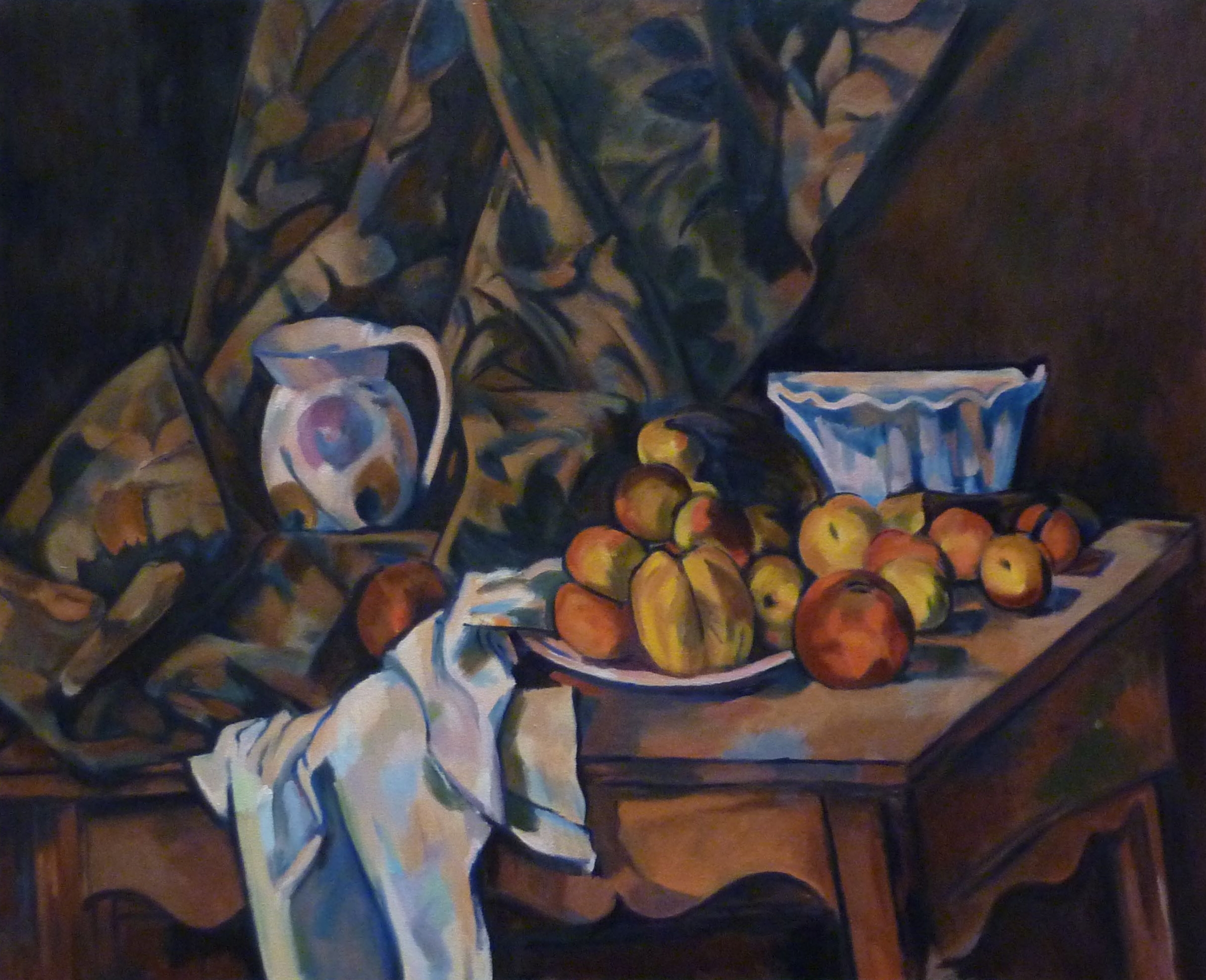 Copy after Paul Cézanne    Sill Life with Apples and Peaches