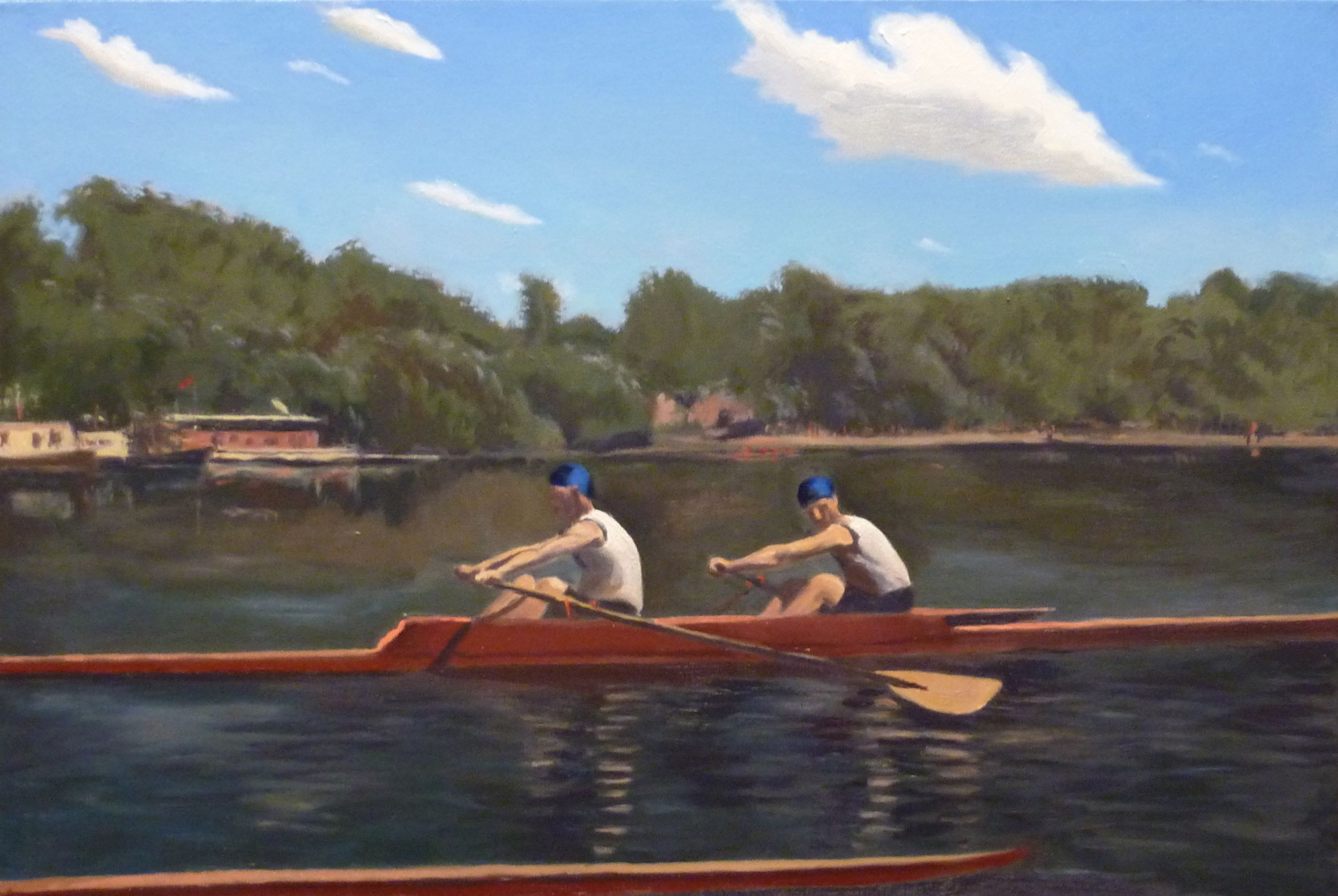 Copy after Thomas Eakins    The Biglin Brothers Racing