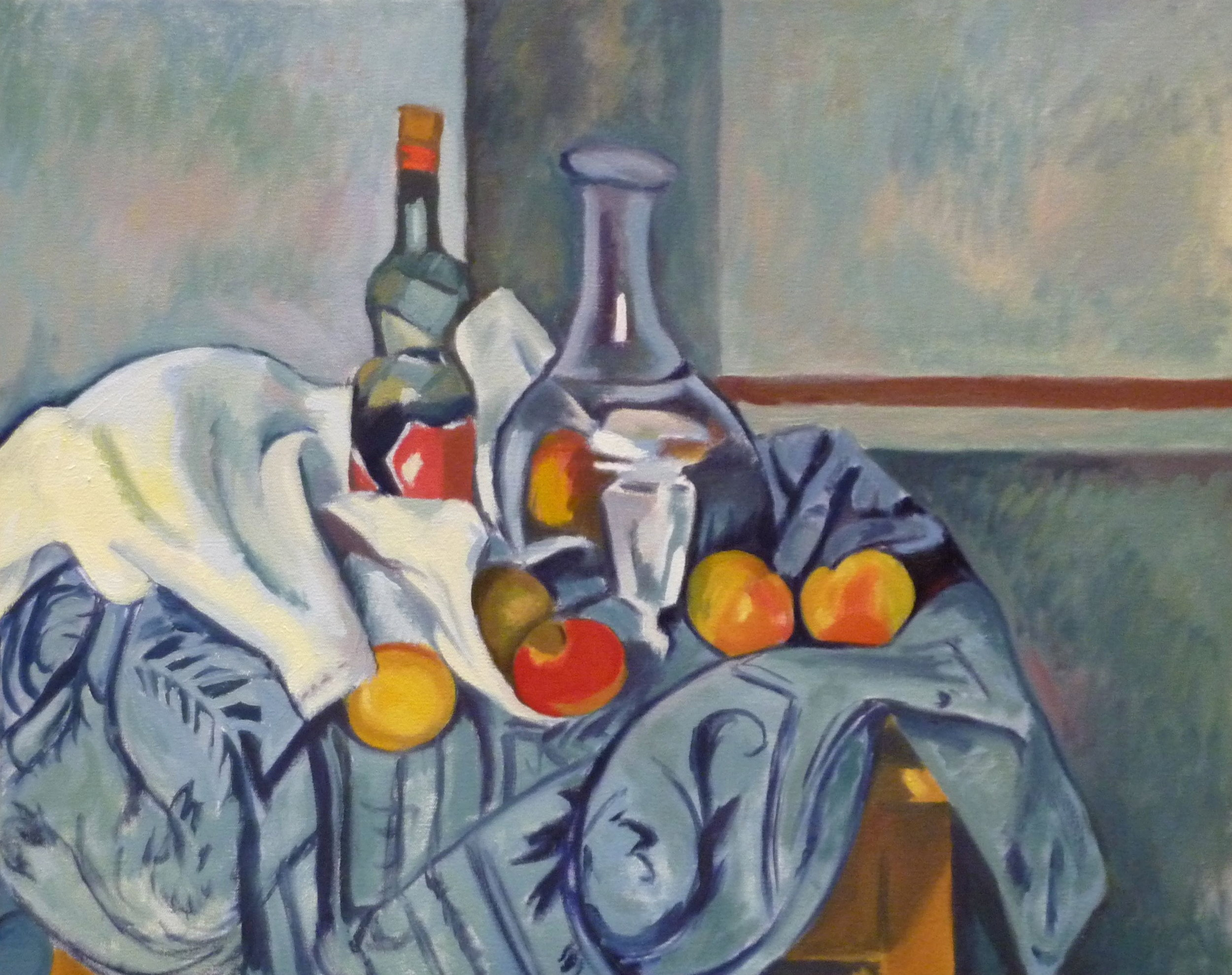 Copy after Paul Cézanne    The Peppermint Bottle sold