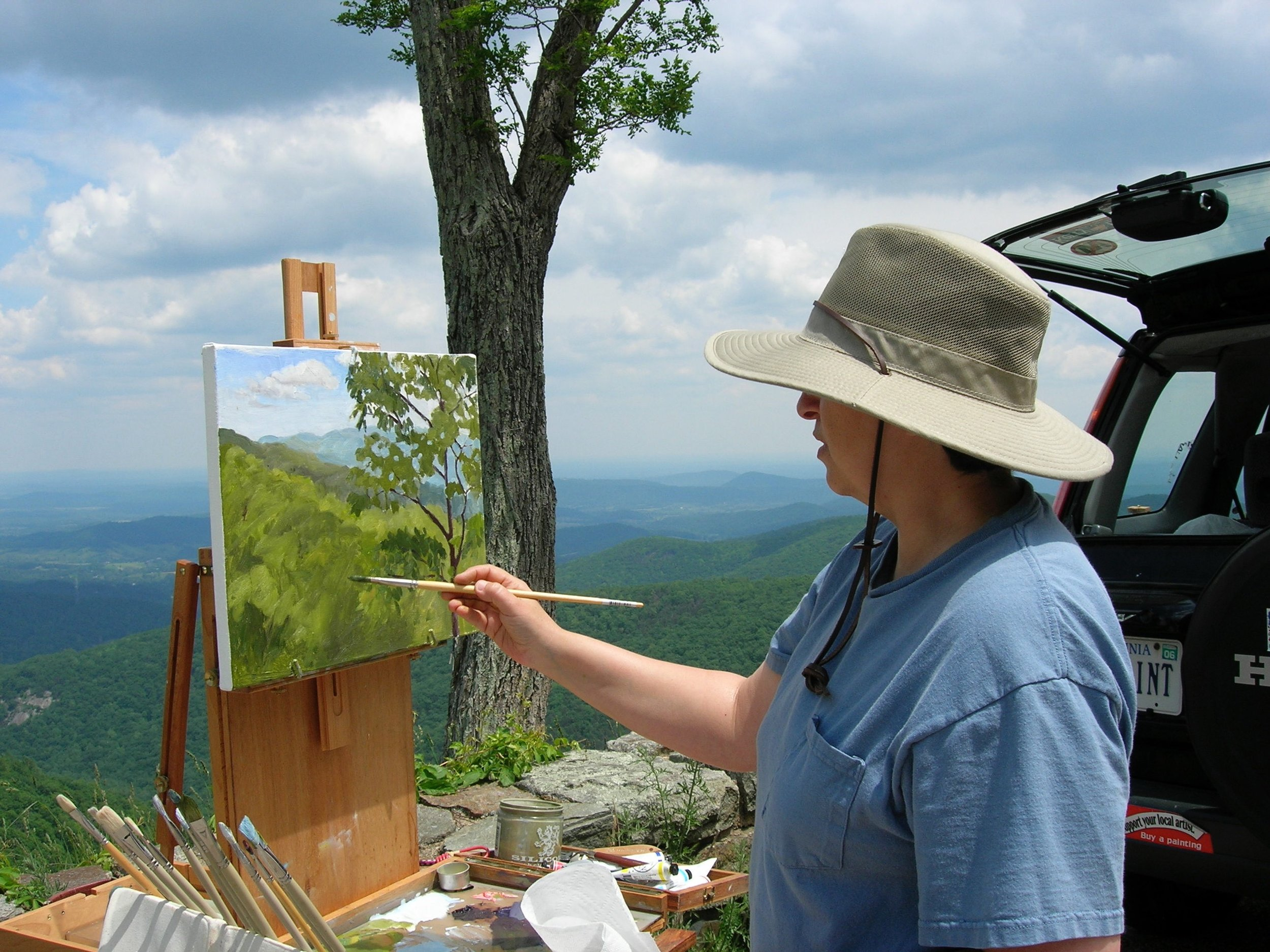 Painting on Skyline Drive