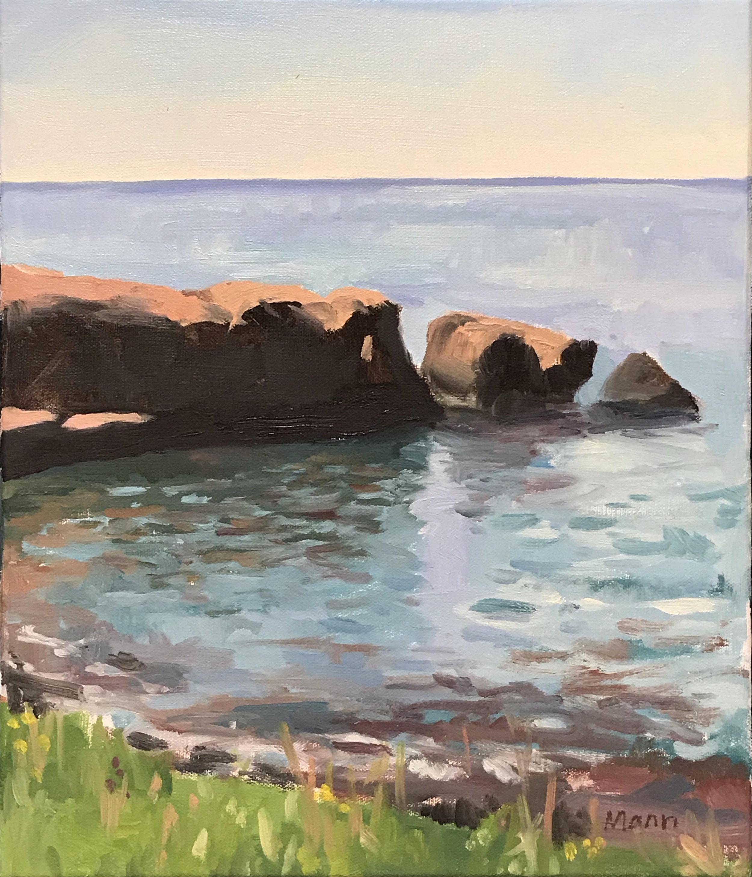 "Beautiful Cove I  oils, 14"" x 12"""