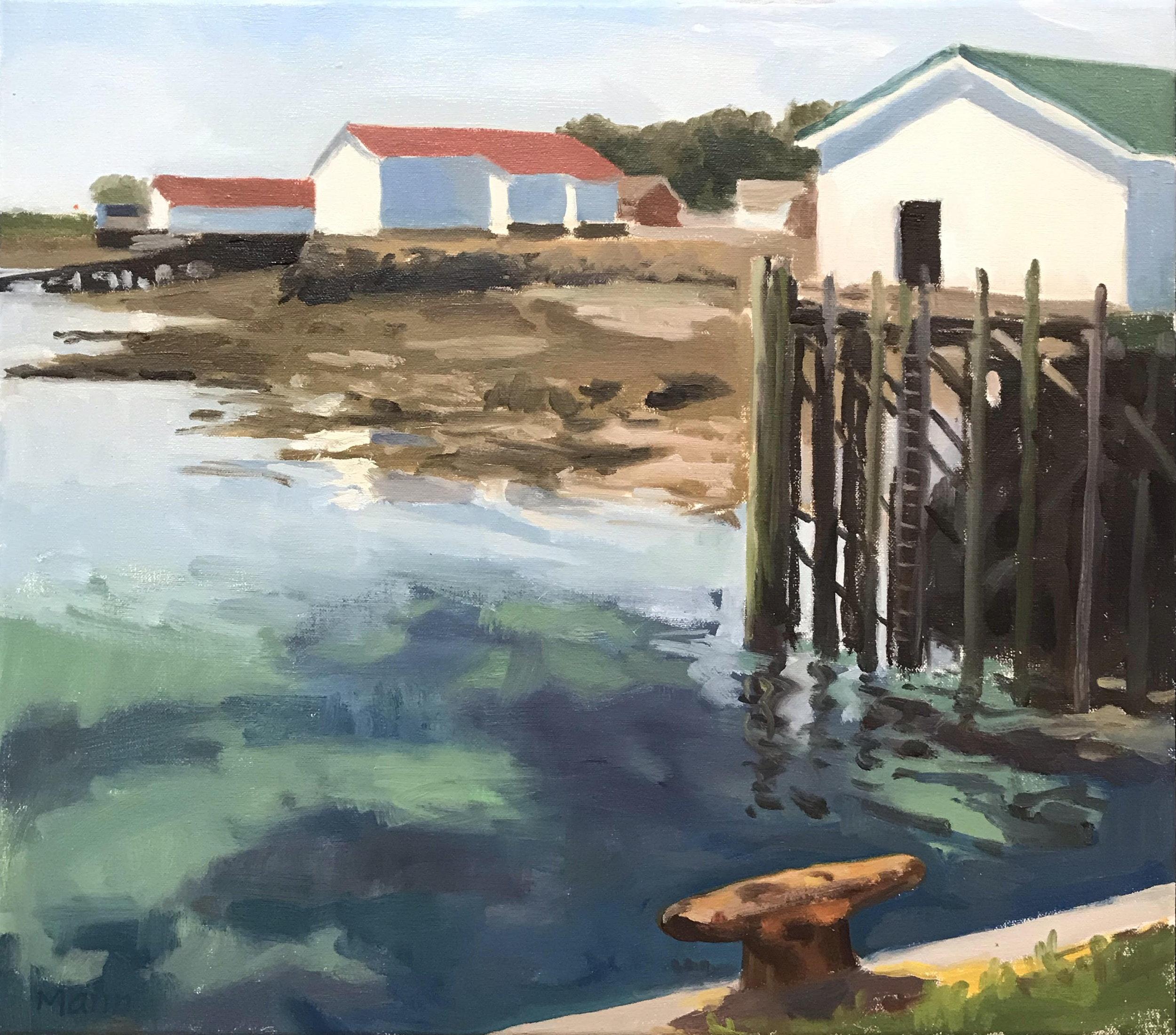 """Westport Waterfront II  oils, 16"""" x 18"""""""
