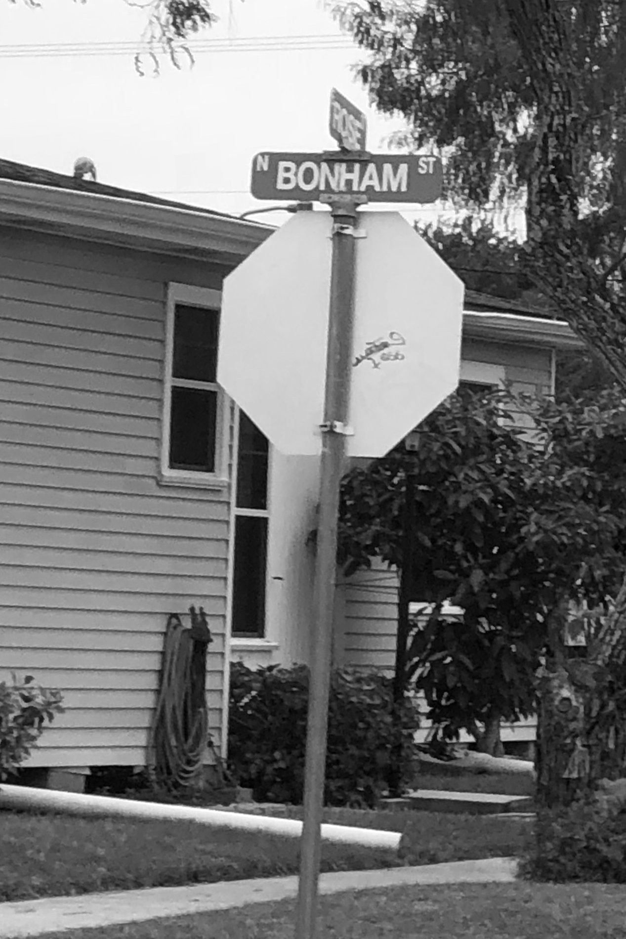 "Bonham Street - ""As we turned around, we saw a white Honda cruising down Bonham real slow. I said, 'Guess who it is.'Rey and Eddie were in the front seat and their music was thumping and they kept looking  our  way. With the windows rolled down, I could see their faces. It was like they were looking for us. I guess I had been waiting for this since we threw down on Eddie at the Red Carpet Inn."""