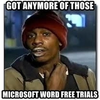 When the trial ends 😩