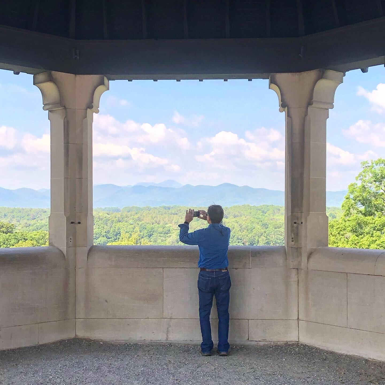 E's dad enjoying the view.