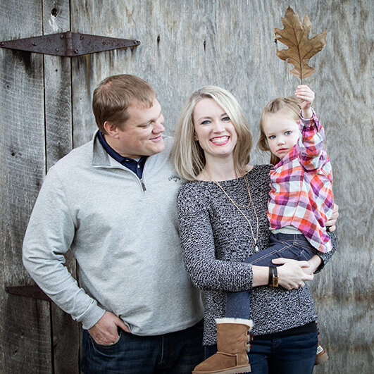 Bryan's sister Meghan, husband Eric, and their daughter, Juliet