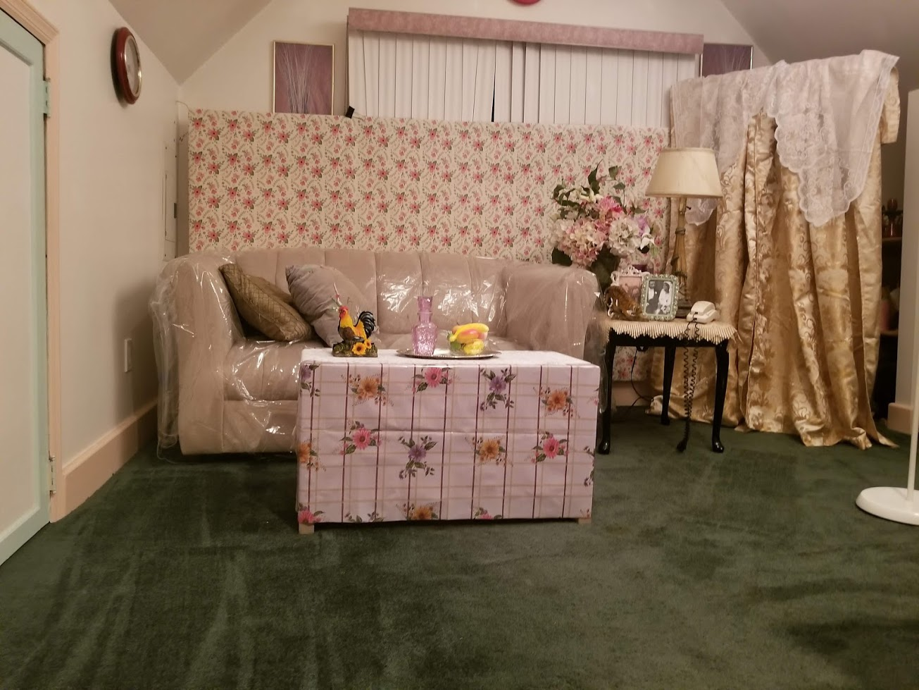 This set was built to mimic the aesthetic of what is known to West Indian's as The Front Room.