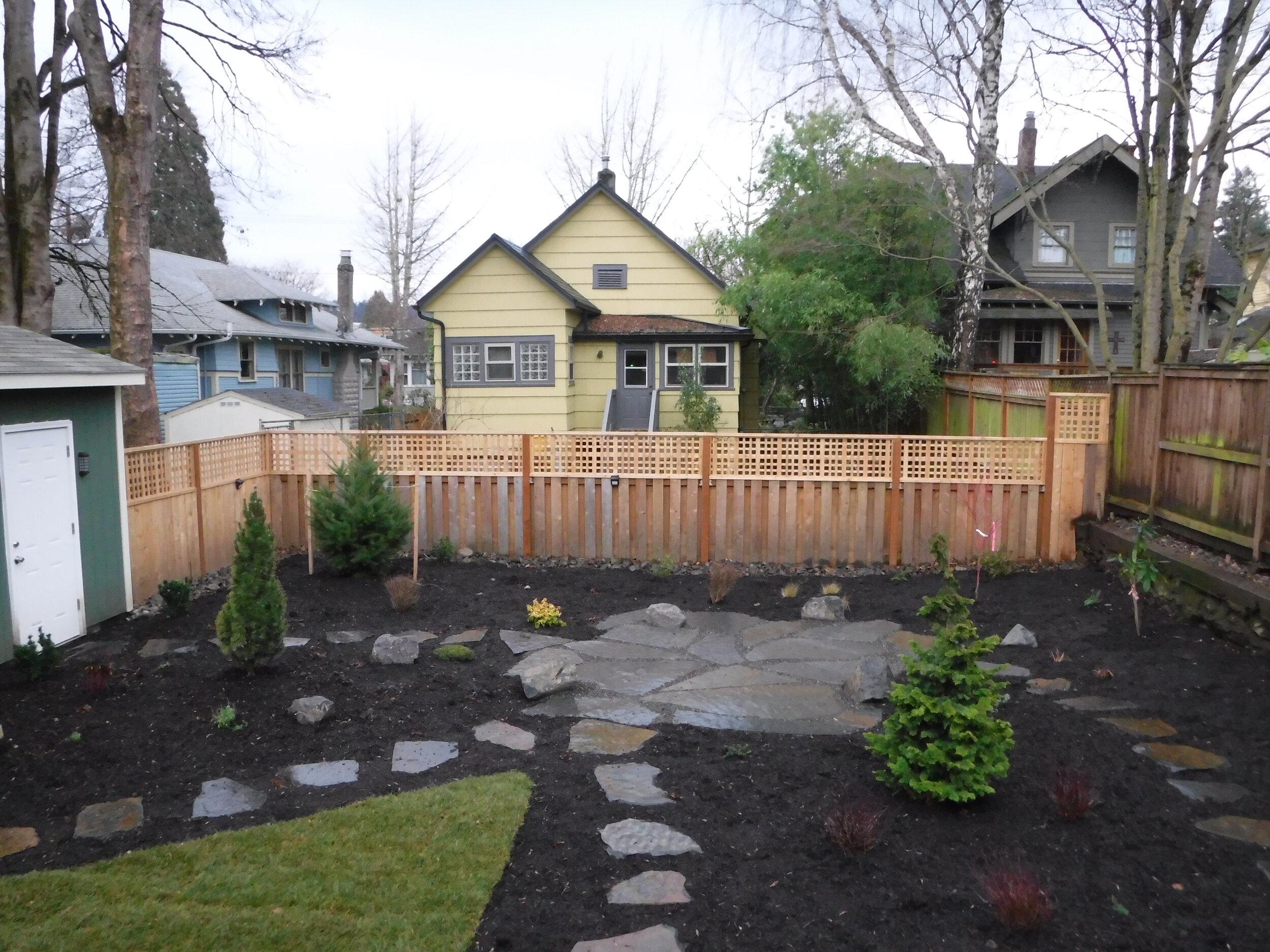 Custom cedar fence with custom lattice.