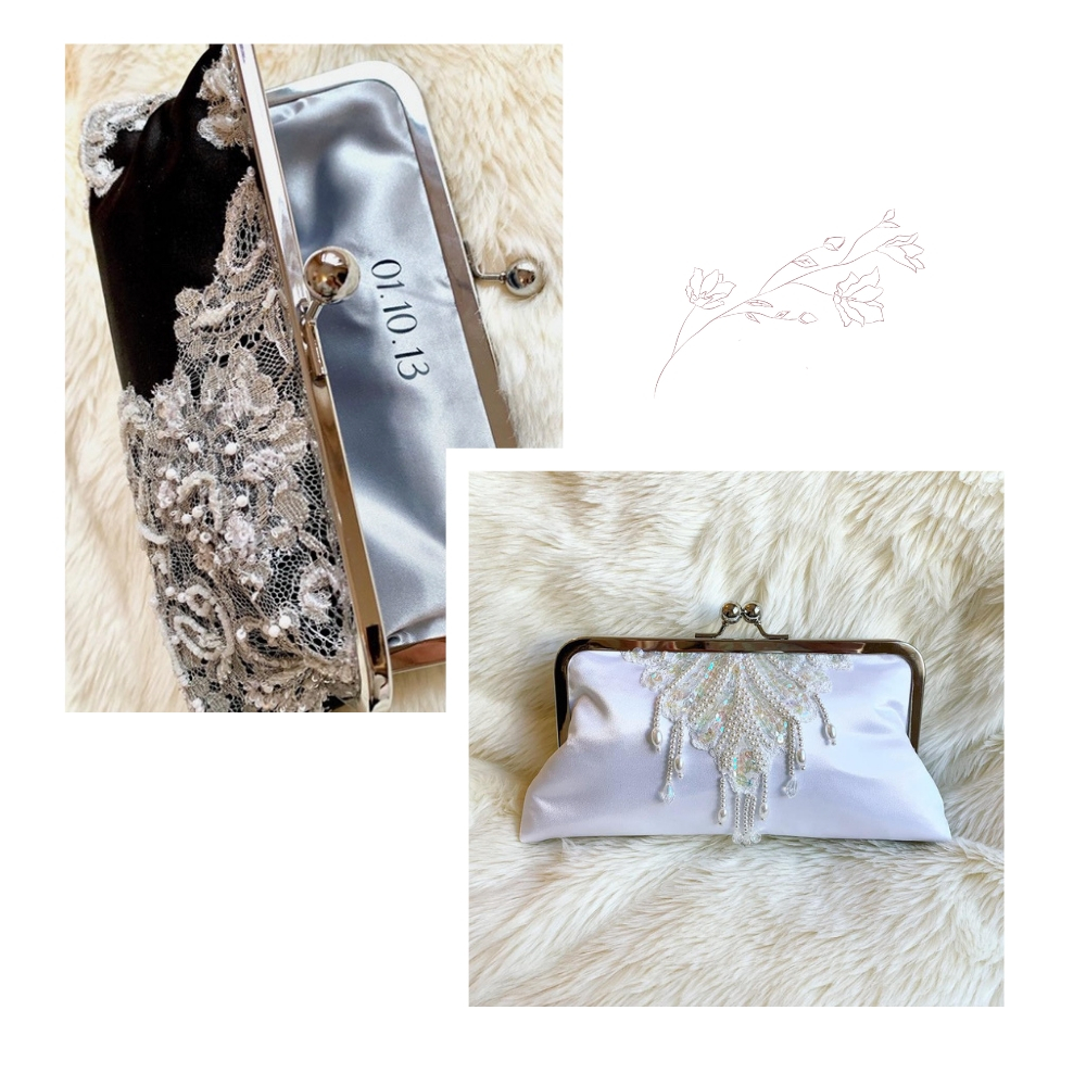 black lace clutch and bride purse as gift.jpg