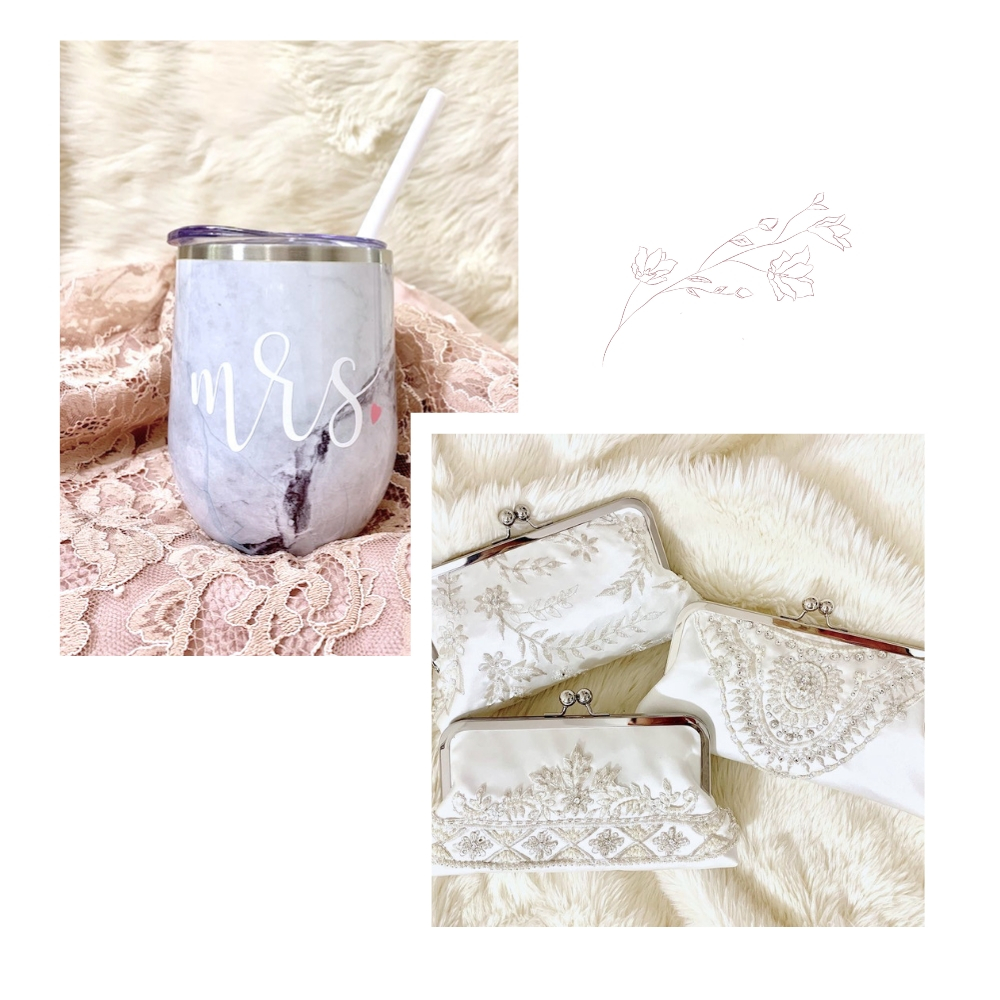 mrs marble tumbler and three clutches for sisters.jpg