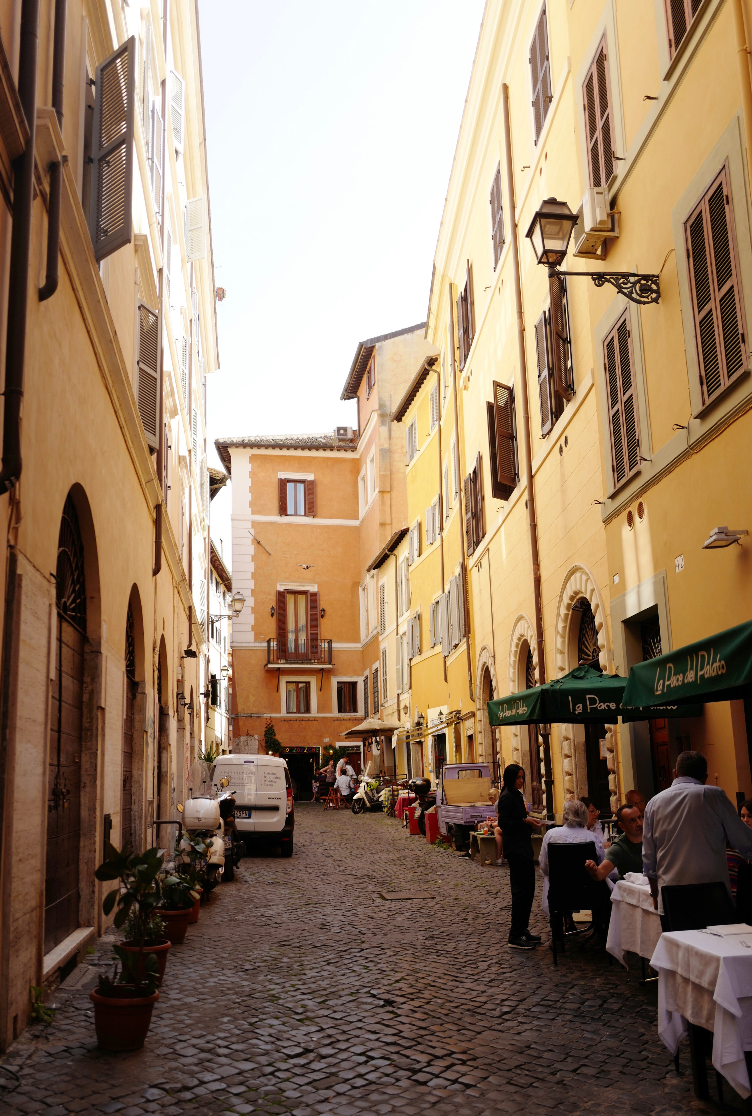 Small side street in Rome City Center (also the street where my airBnB was on)