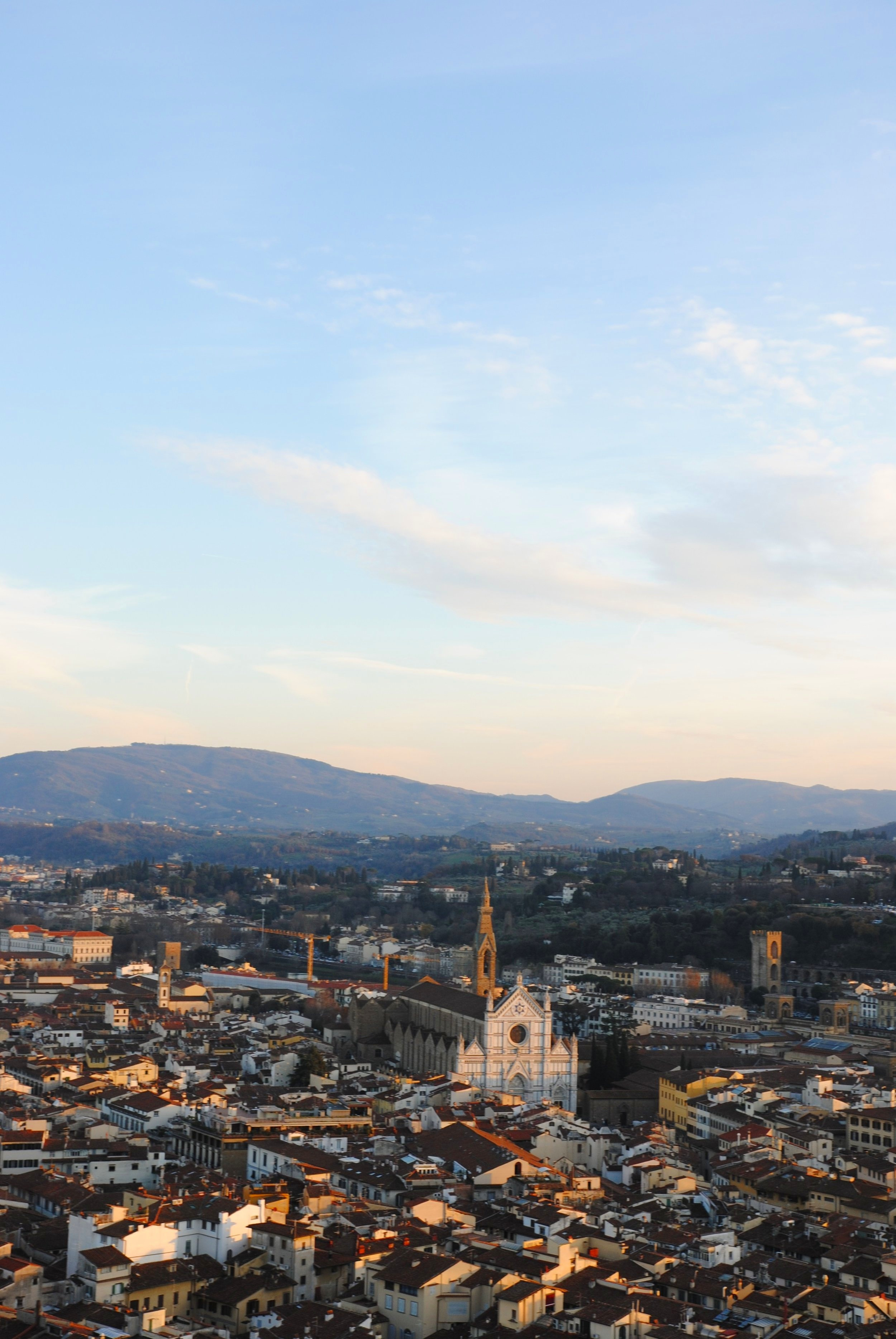 Rewarding view of the Church of Saint Croce, from the top of Duomo