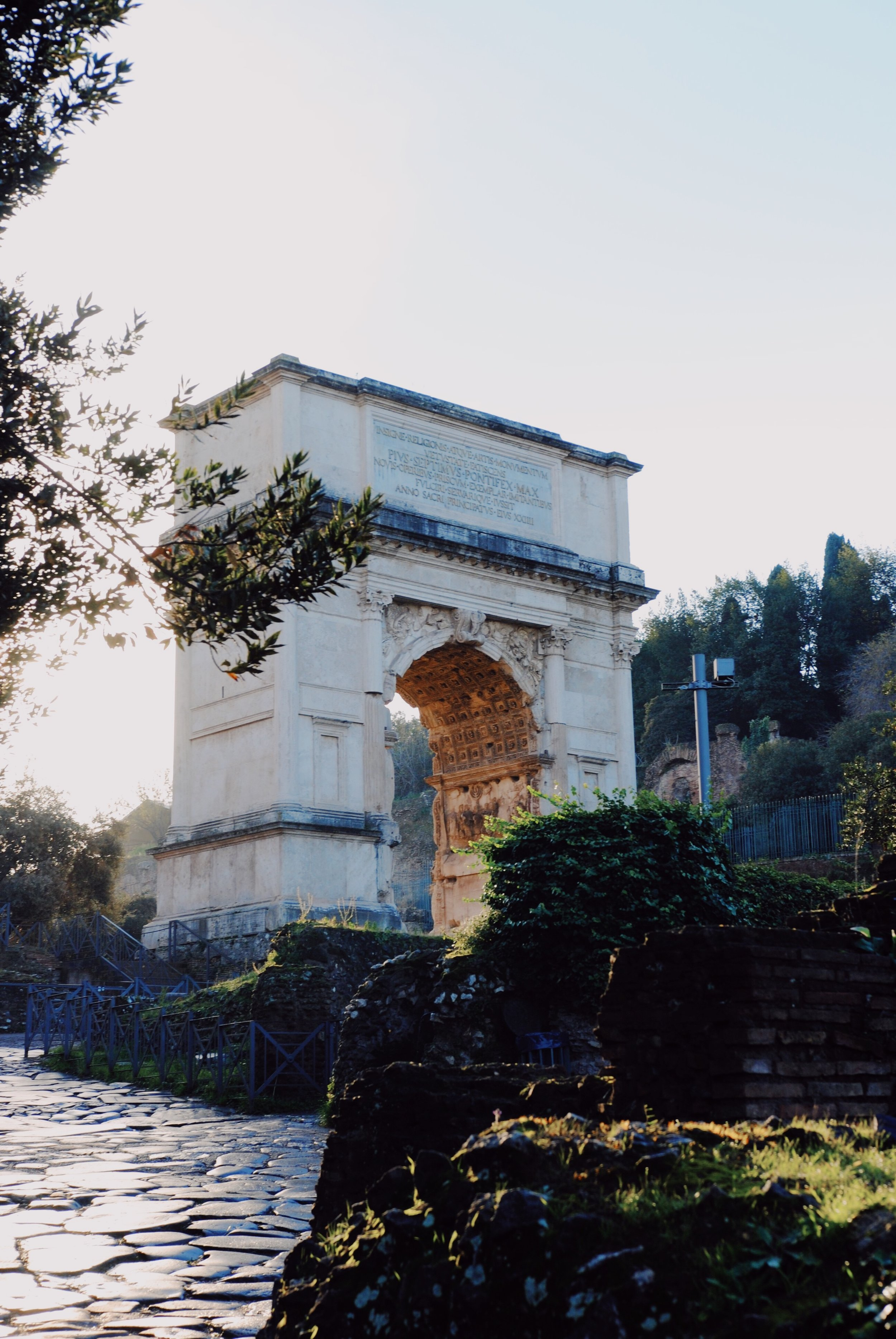 Arch of Titus: At sunset.