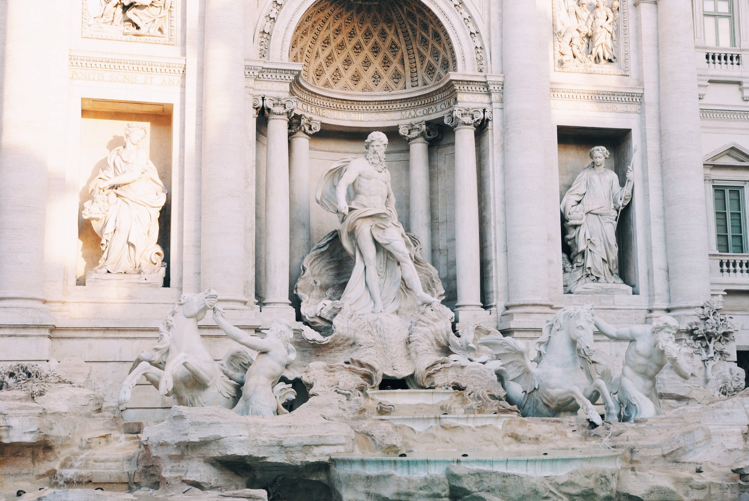 Trevi Fountain: Largest baroque style fountain in Rome.