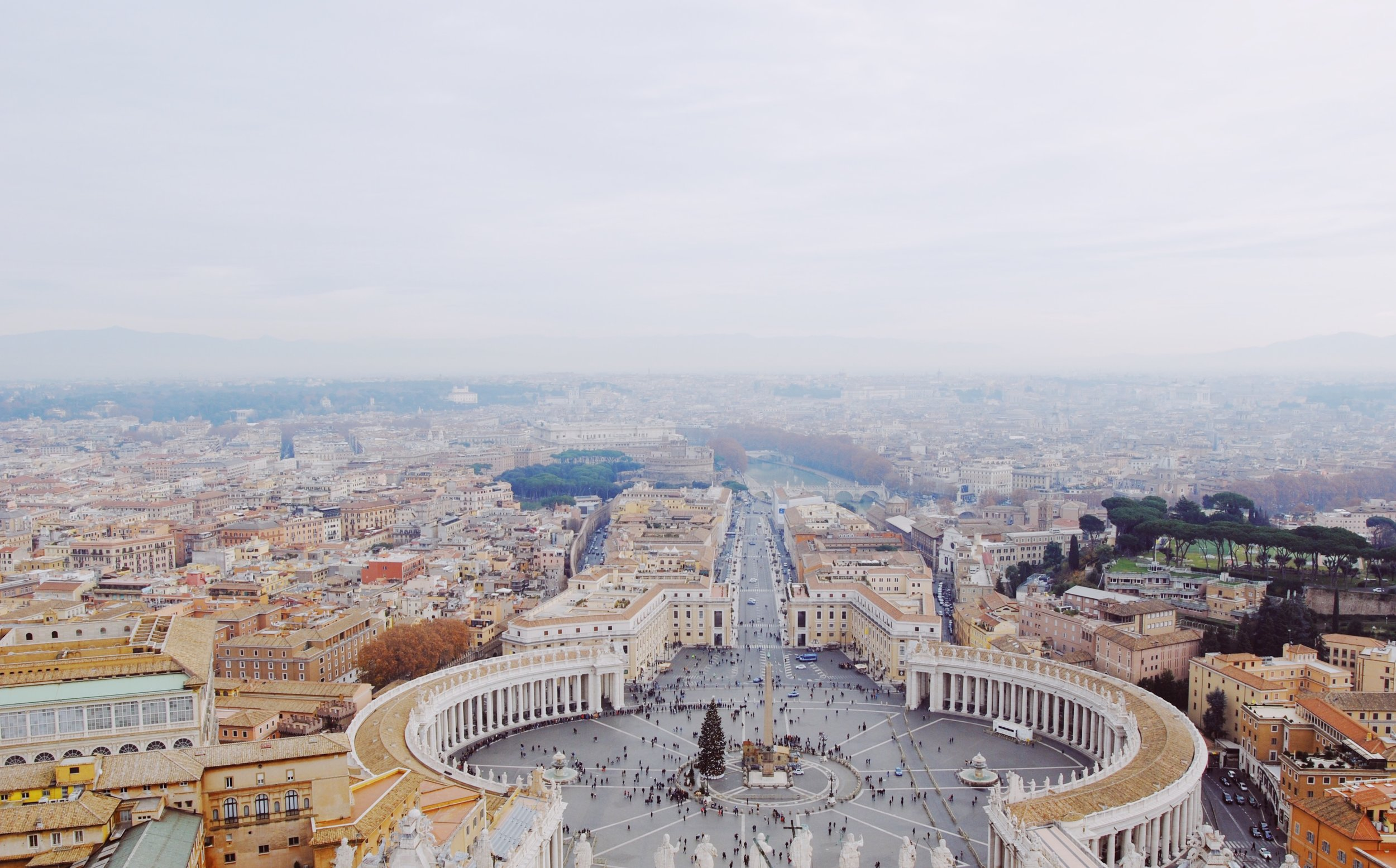 View from the top of St. Peter's Basilica following the climb