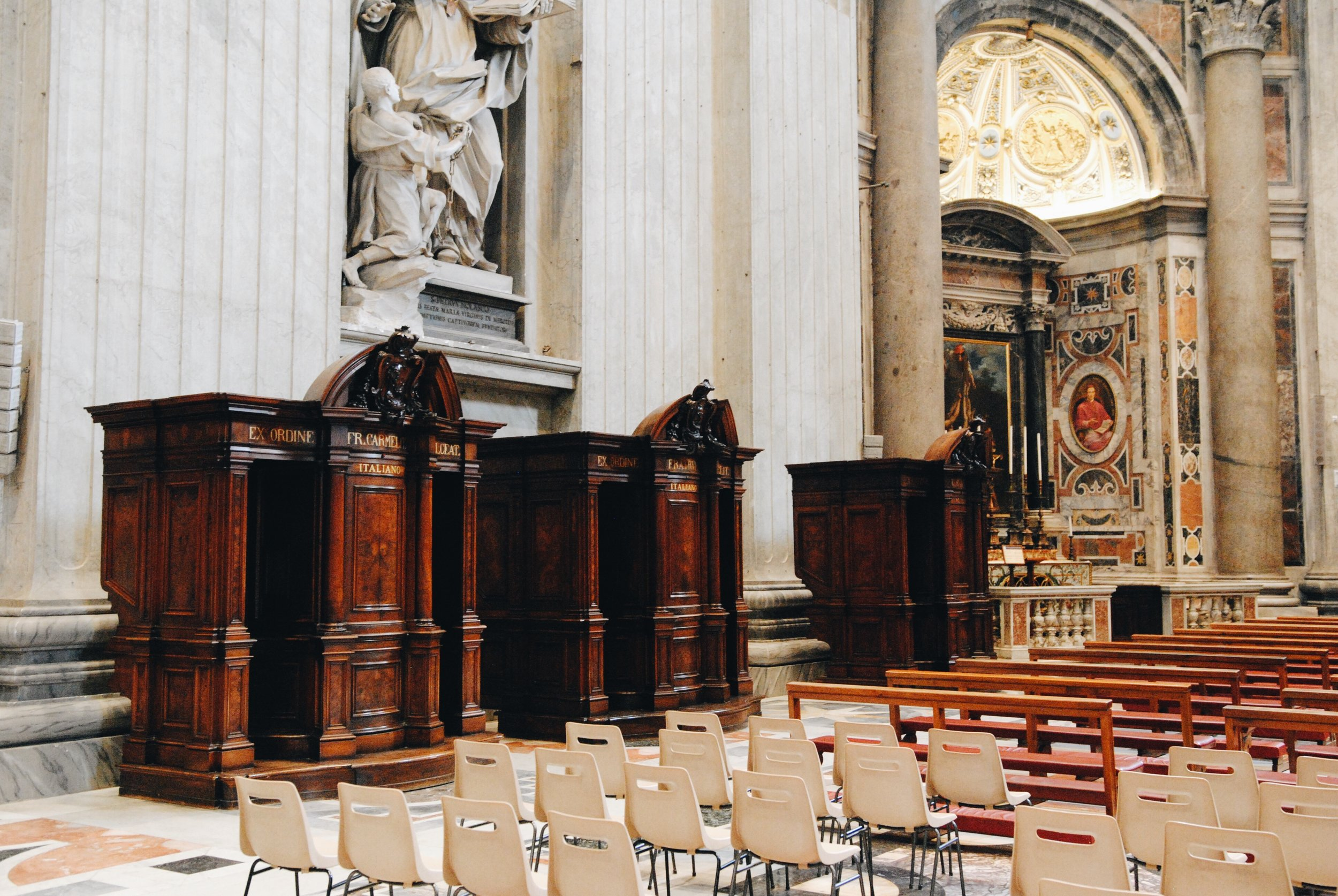 St. Peter's Basilica: Multiple confession booths