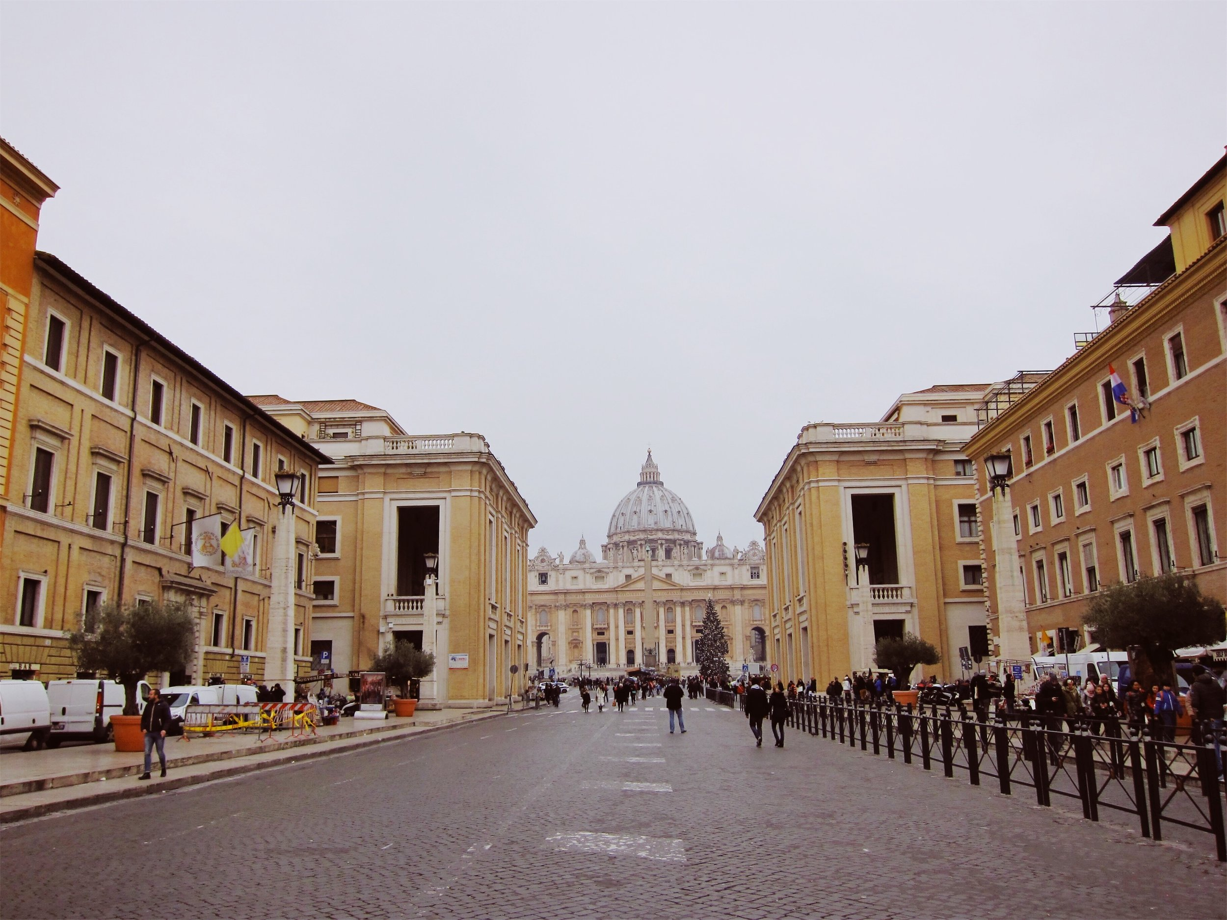 View of the Vatican from the ground