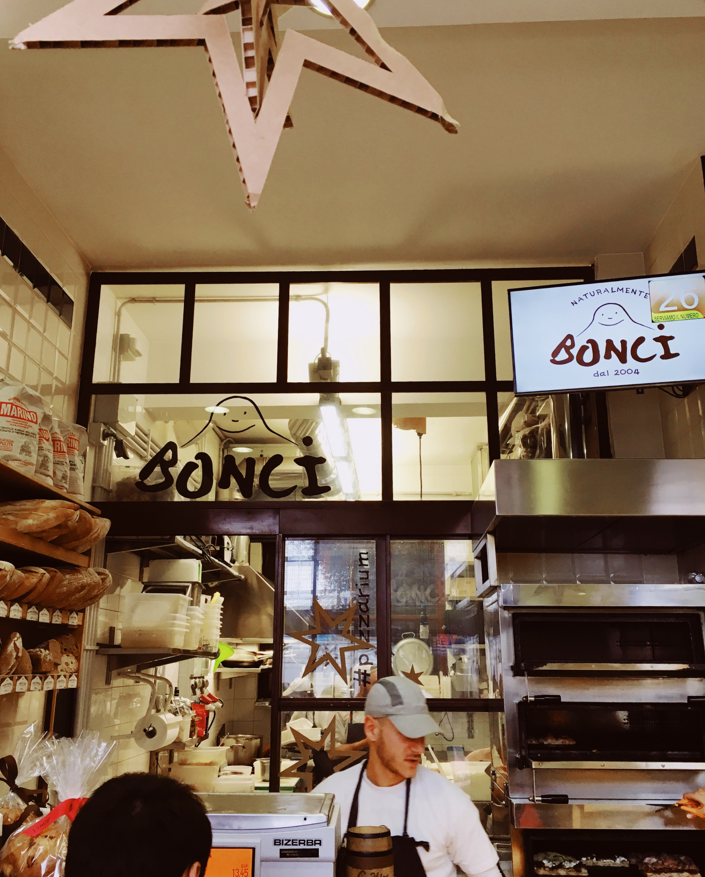 Pay for your pizza at the Bonci Counter