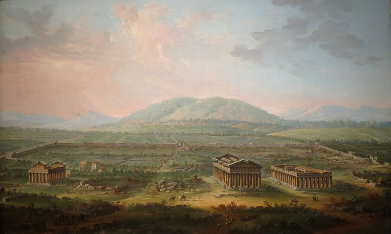 "Antonio Joli ""A View of Paestum"", 1759"