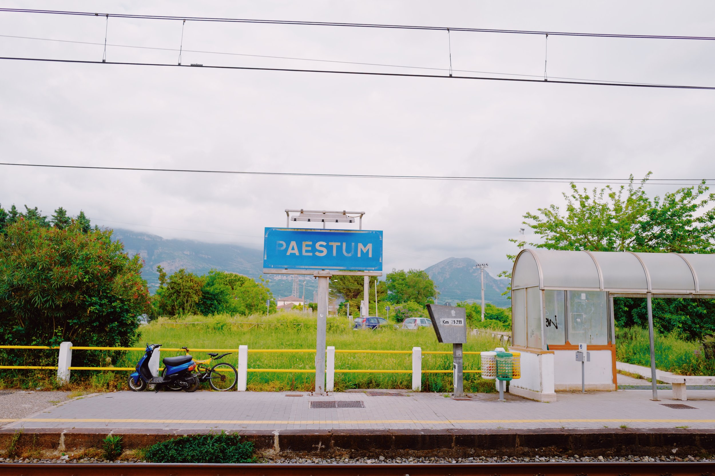 Train station Paestum, get off here! Follow signs to get to the ruins.
