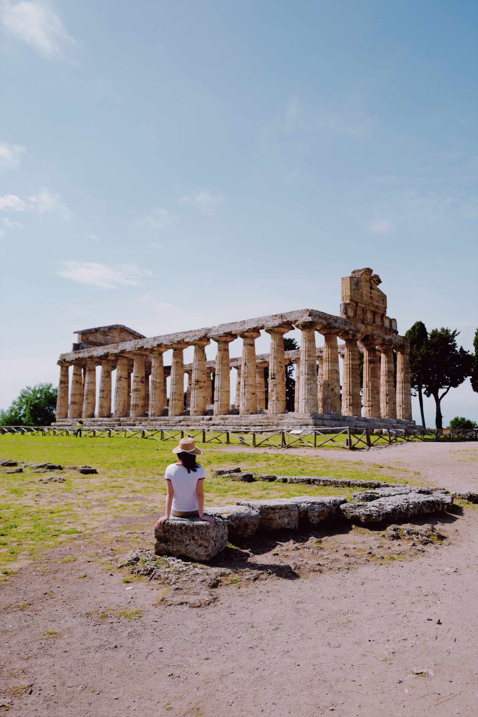 Once you enter the site at Paestum, you will first see the Temple of Athena.