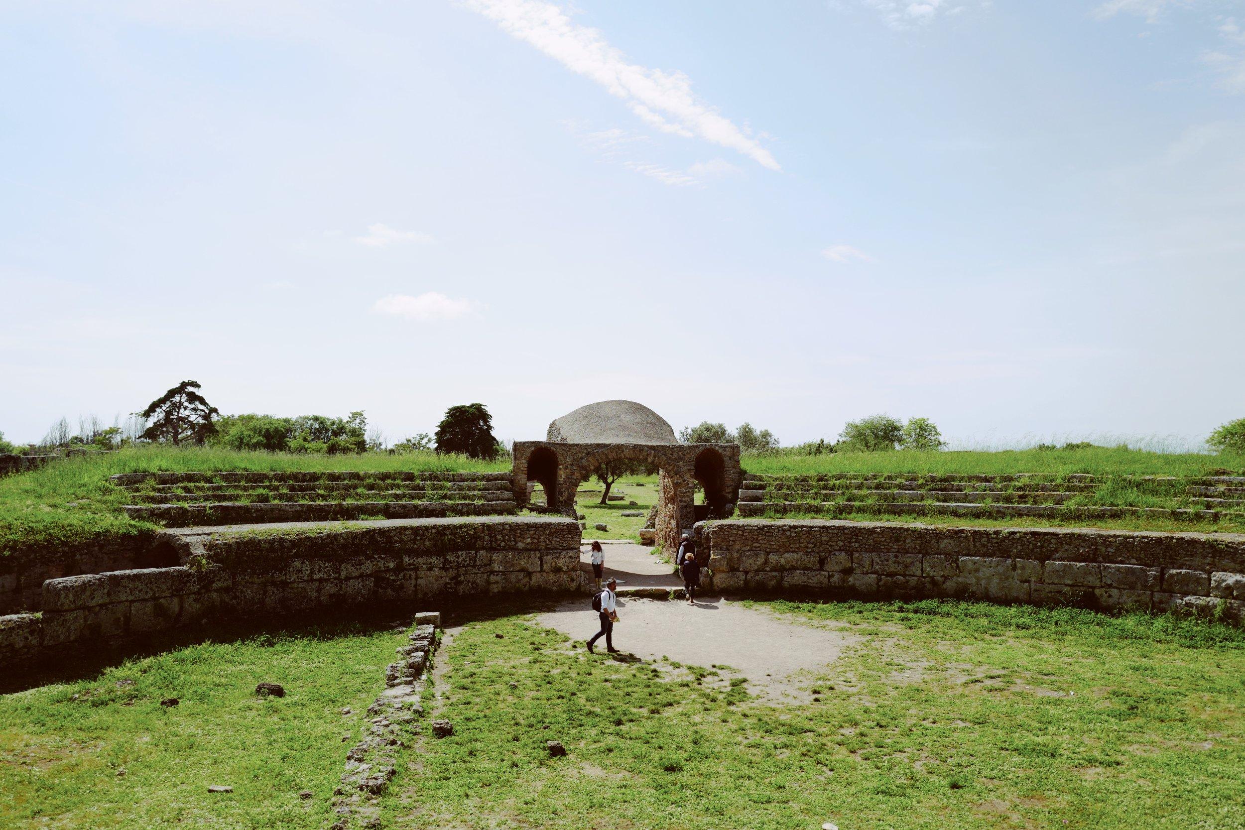 Paestum amphitheater