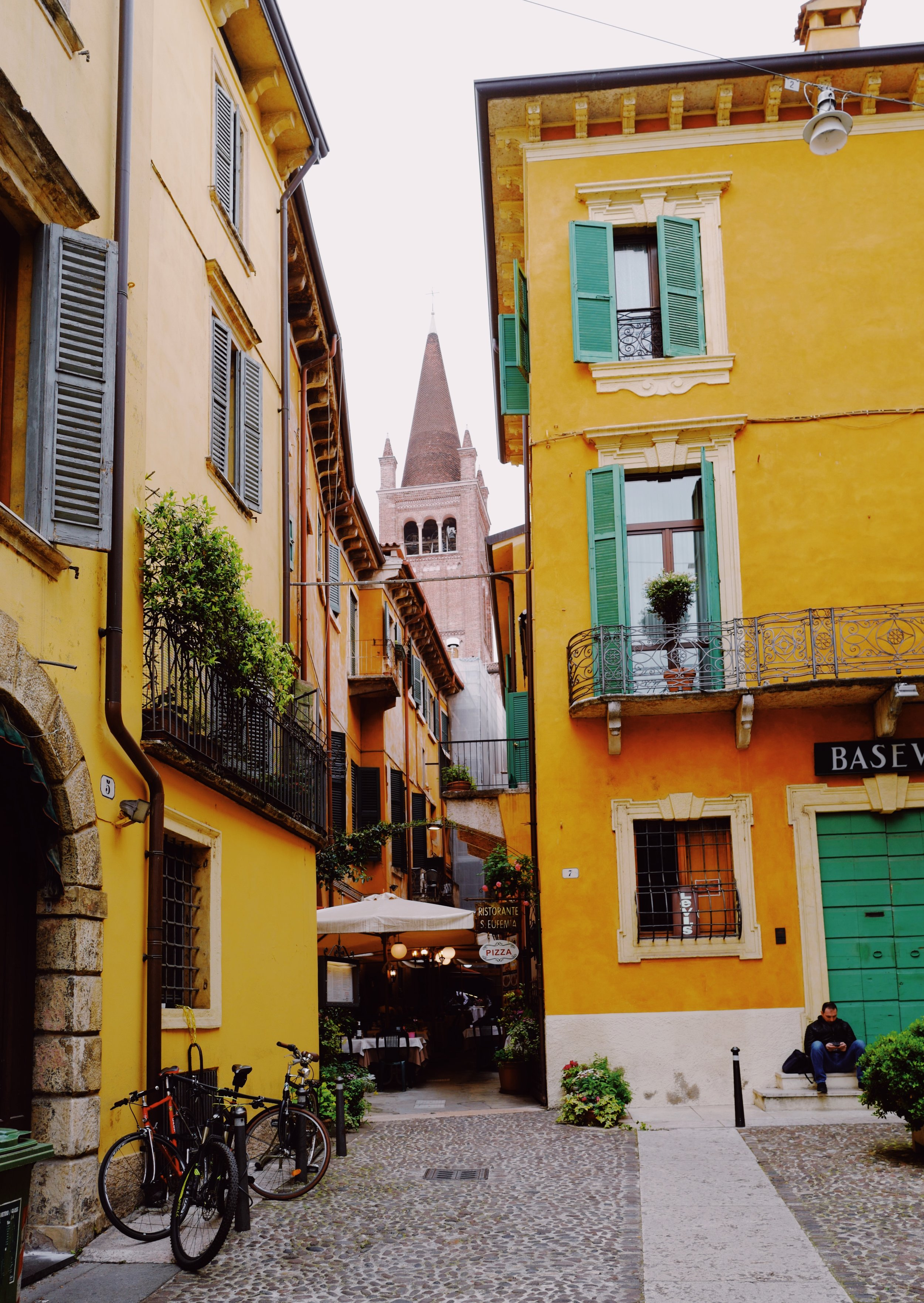 One of the beautiful streets in Verona