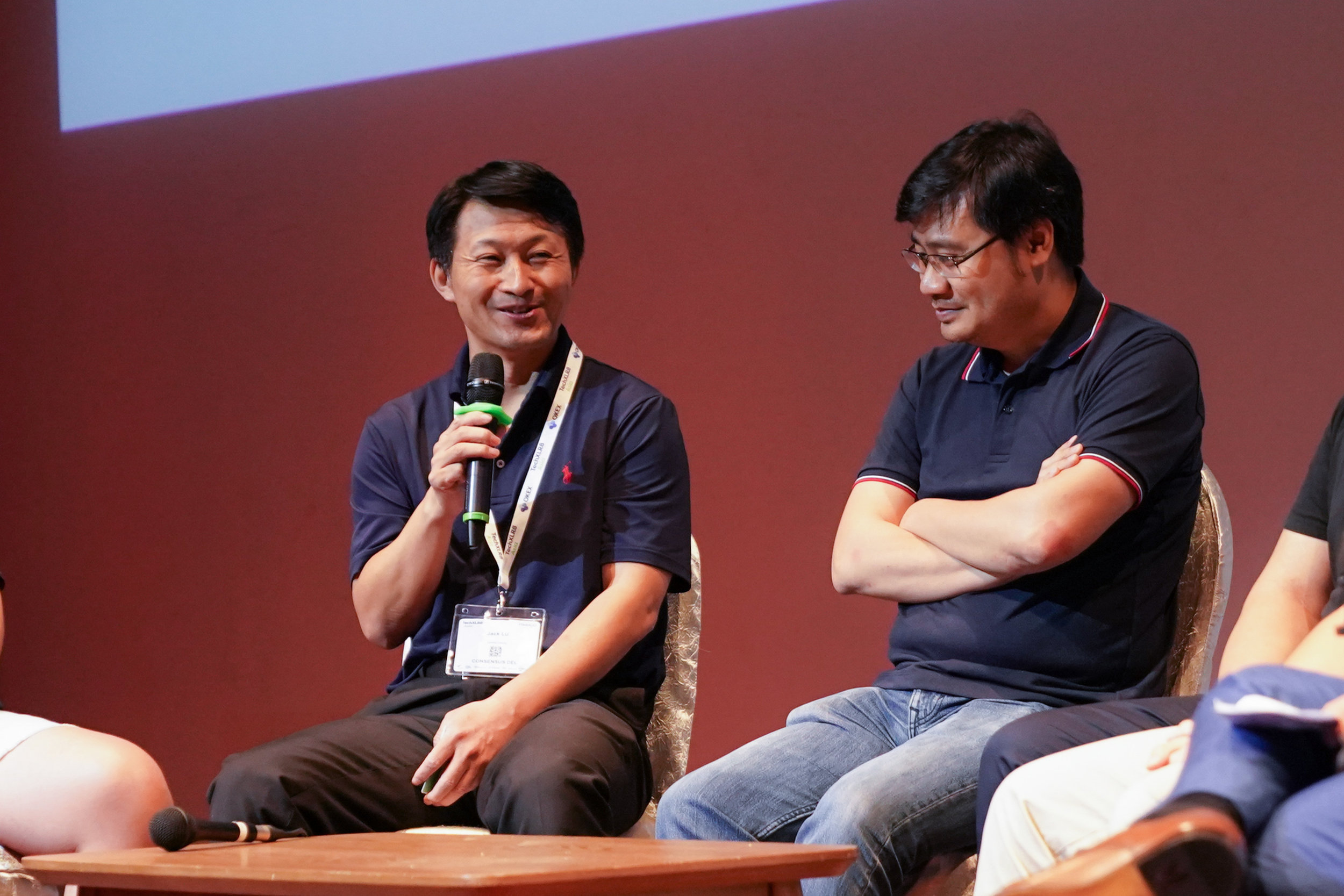 Picture of the insightful panel discussion featuring (from left) SoSo from Block Crafters Capital, Jack Lu from Wanchain and Long Vuong from Tomochain.