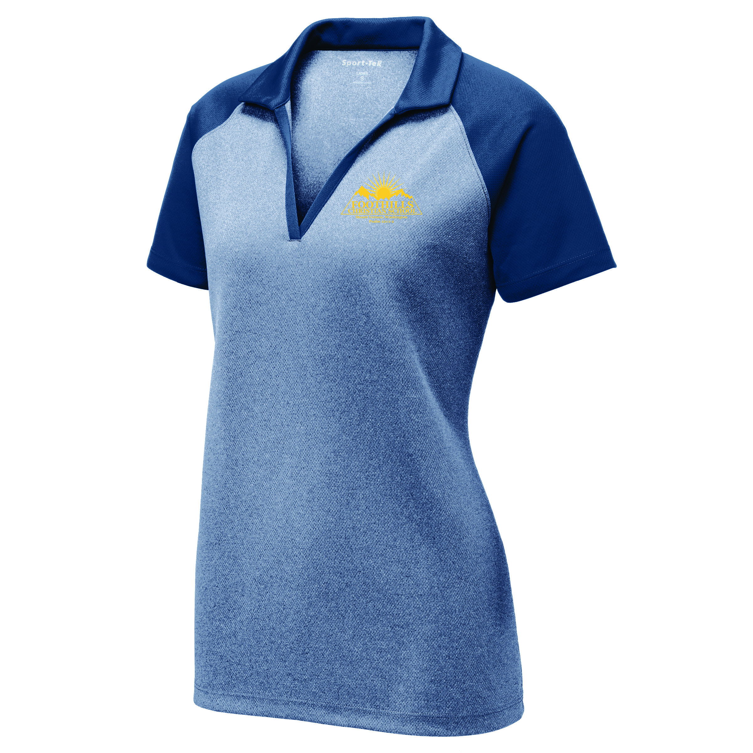 Foothills Christian Sport Tek Ladies Posicharge Racermesh Raglan Heather Block Polo Hats Off A fun update on the classic rugby shirt levi's® iconic. foothills christian sport tek ladies posicharge racermesh raglan heather block polo hats off