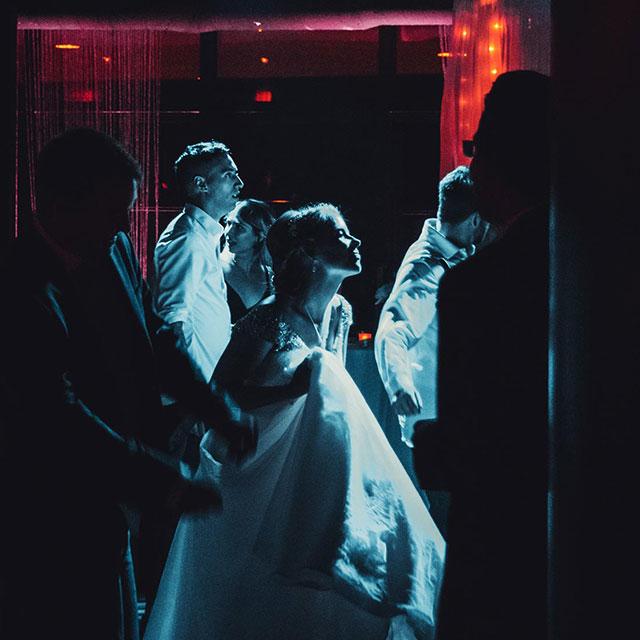 Bride dancing to DJ