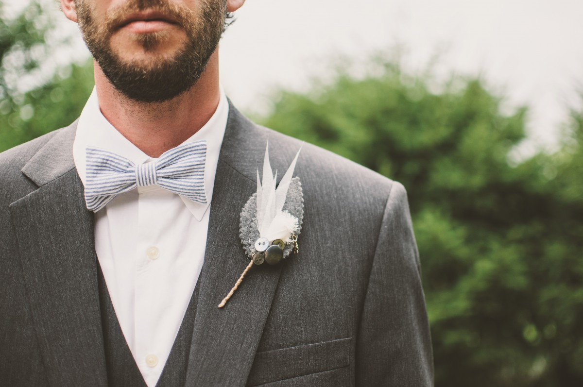 Bowtie and buttonhole