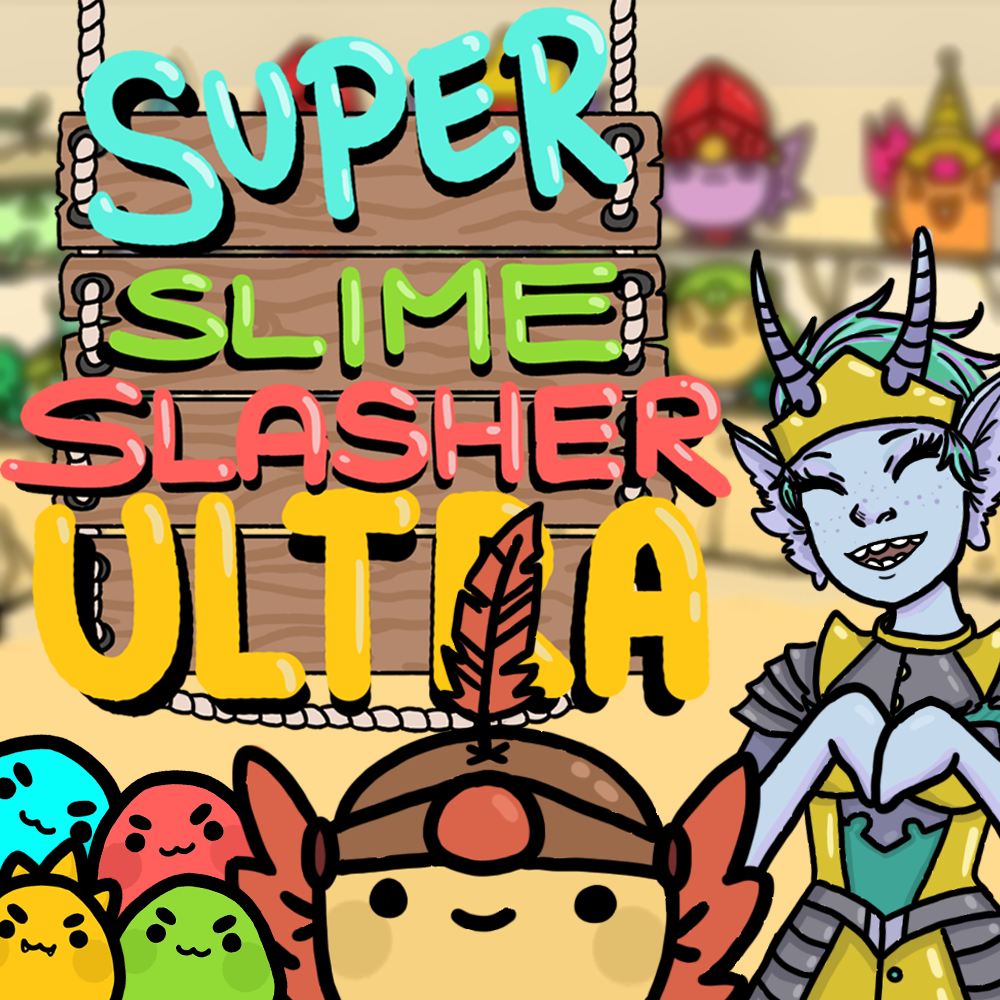 Super Slime Slasher Ultra   The genres of match-3 and action come together in this exciting and adorable game!