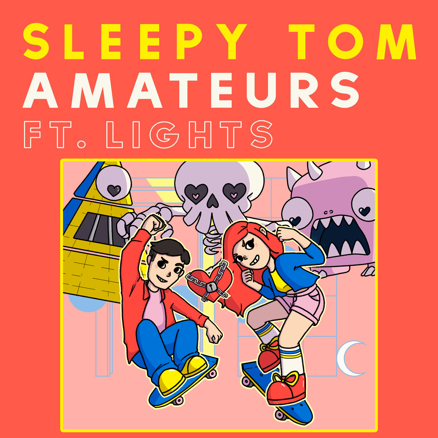 Amateurs   Shoot away epic bosses in this retro inspired arcade game based on Amateurs, the new single by Sleepy Tom featuring Lights!