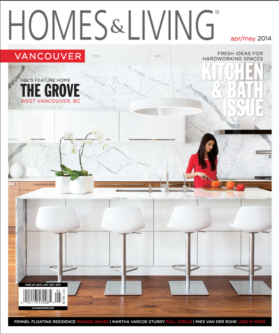 "HOME & LIVING MAGAZINE  ""Geralynne Mitschke believes in the simplification of interior spatial elements to create relevant and contemporary timelessness, resulting in exceptional design-- whatever the context."""