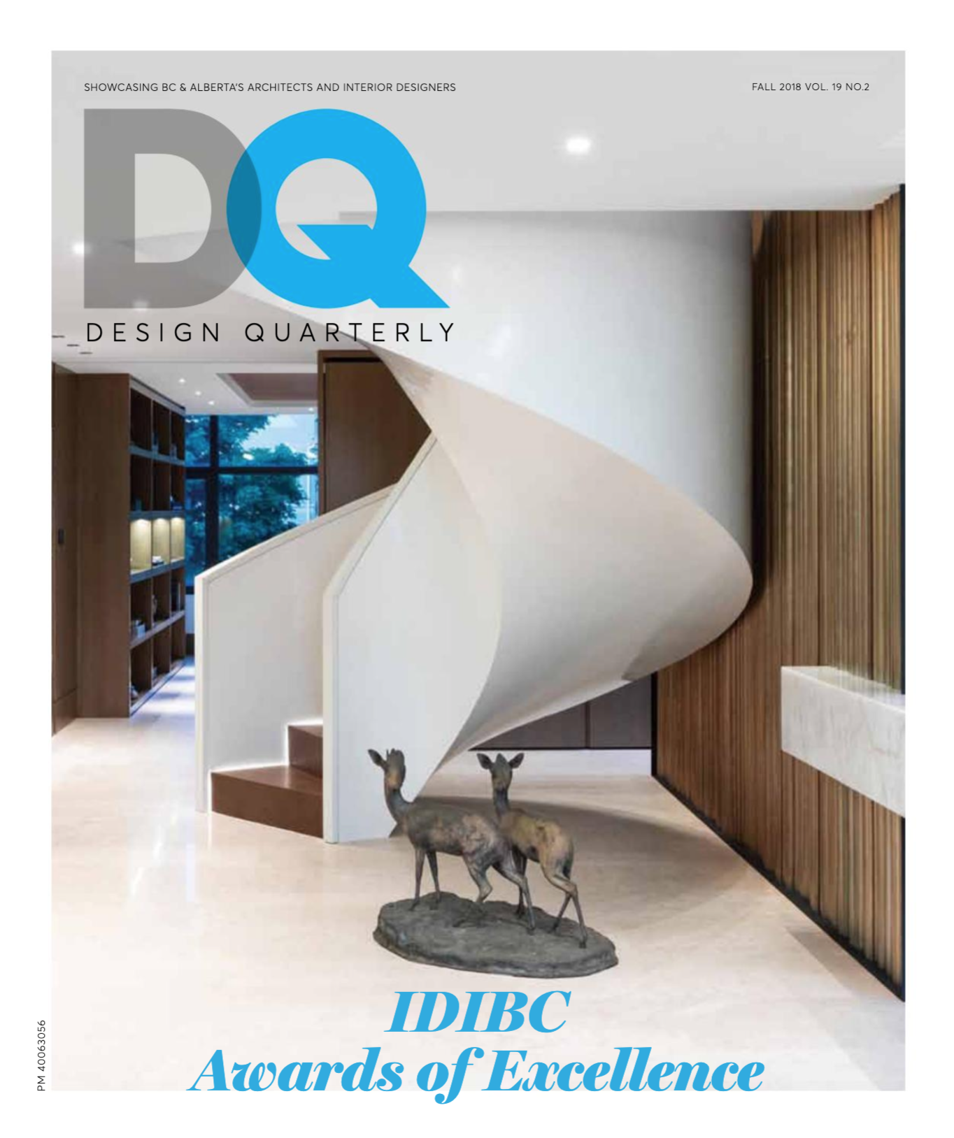 "DESIGN QUARTERLY - FALL 2018  Judges Notes: ""The wood panel, it's delicious""  ""Every design decision served to honour the coveted location of this project.. - the interior was to become a canvas for the sea and sky to paint the space every day."""