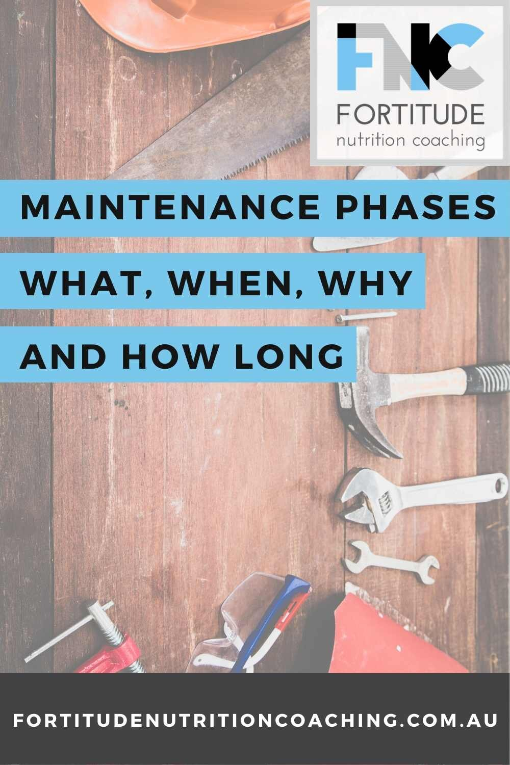 how long should a diet maintainence phase be