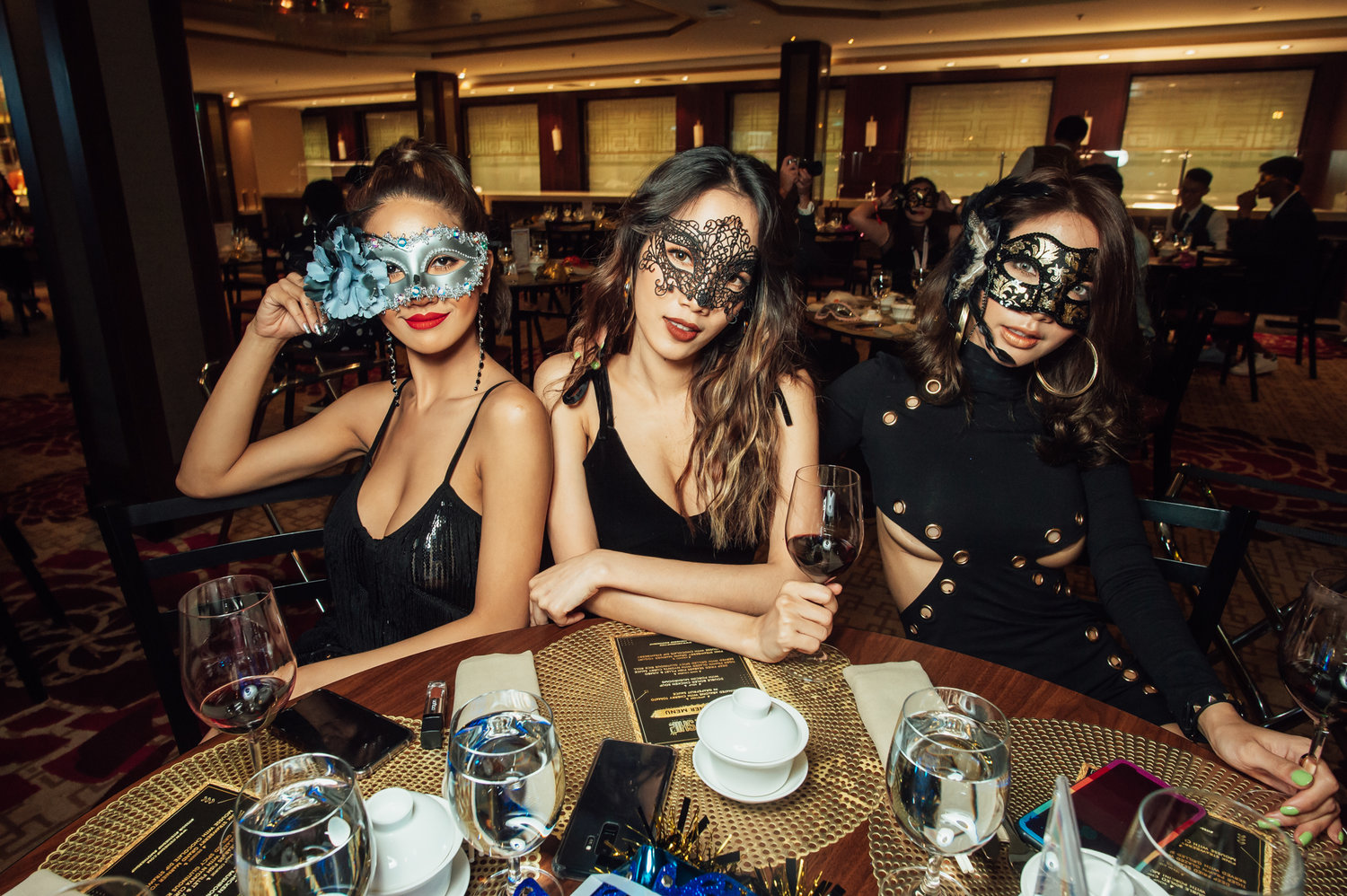 IT'S THE SHIP's 5th voyage at sea was celebrated in style at this year's Gala Night, where revellers turned up dressed to the nines to the theme of 'Black & Gold Masquerade'
