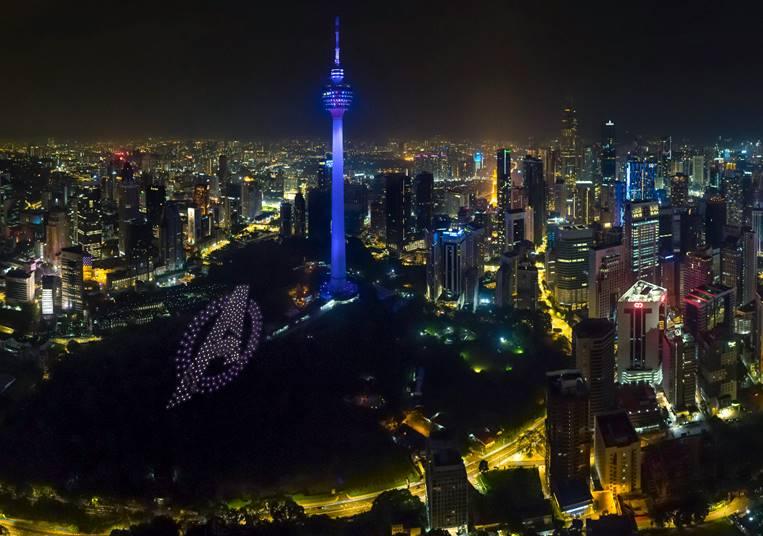 Marvel Studios' Avengers Endgame drone show lights up Kuala Lumpur