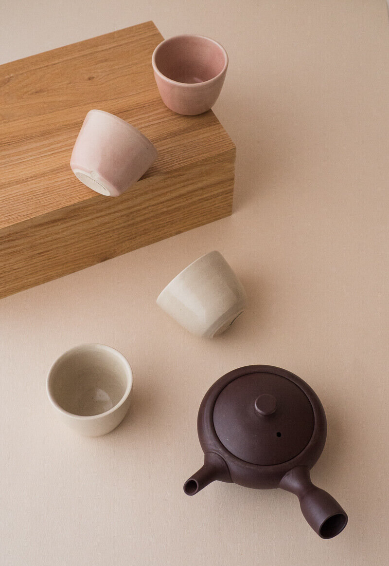 Simple lines, graceful shapes - New to store: Yunomi in off-white and blush, sold in matching pairs. Easy to hold and lovelier to see, all the better for your tea appreciation.