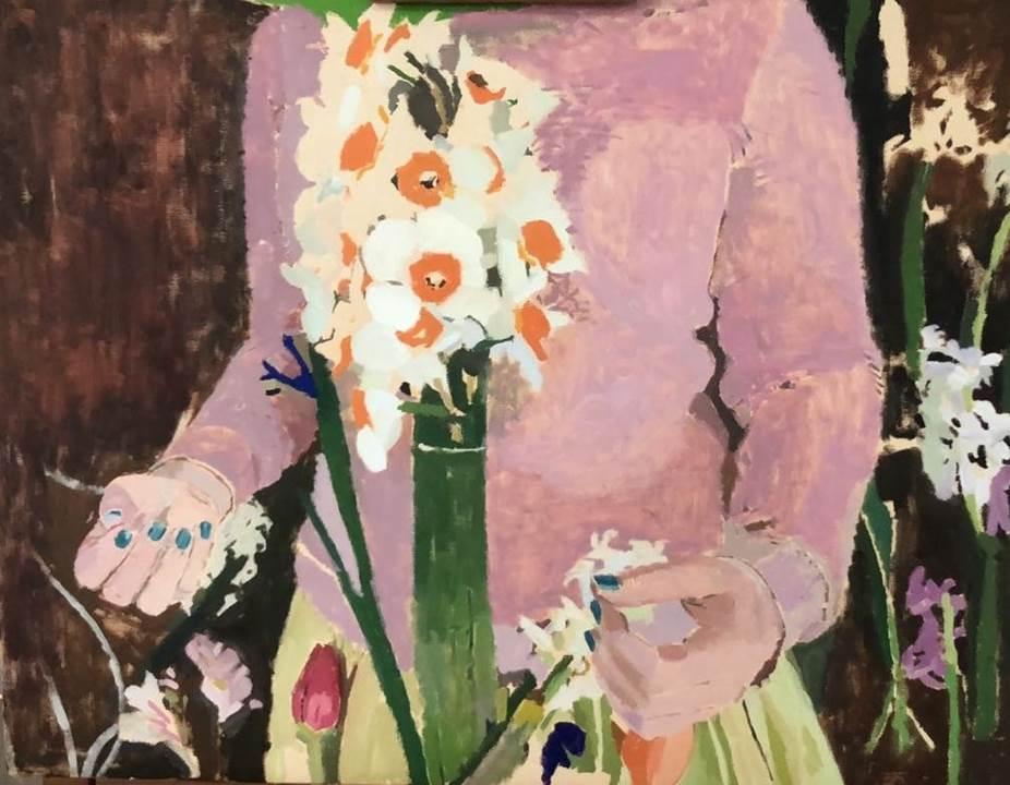 """""""still in work"""", 2019, Oil on Canvas, 62 x 47cm"""