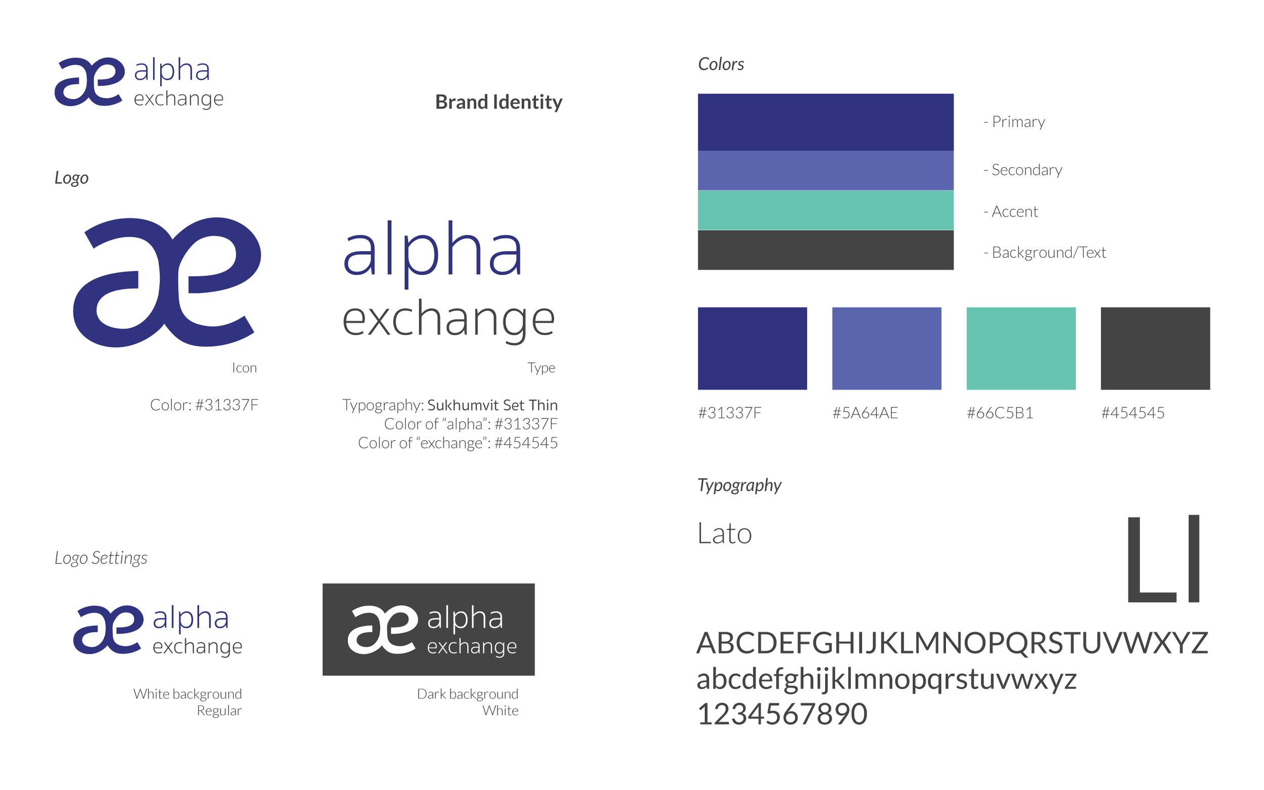 Alpha Exchange's refreshed visual brand style guide