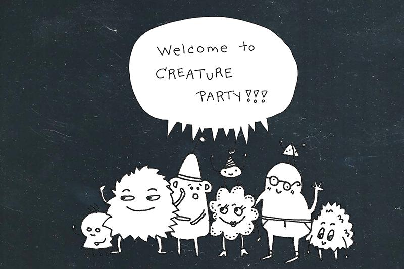 Värkkääjän vinkki - Let Me Hack It -mallissa seikkailevat hahmot ovat taiteilija Kati Hyypän käsialaa. Tutustu hahmoihin Creature Party -verkkosovelluksessa!
