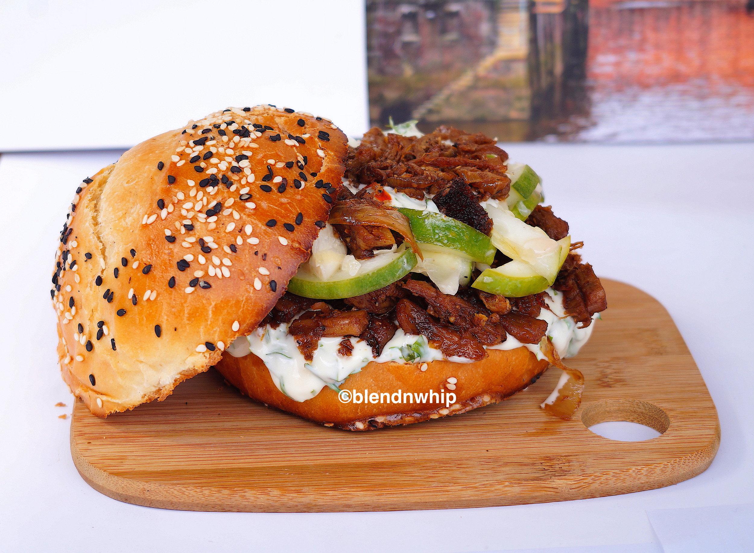 Shredded pork sandwich .JPG