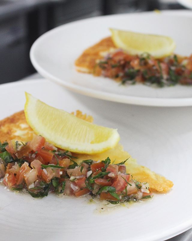 Spring menu is here! Saganaki, grilled kefalograviera with tomato salsa || #sawyersarmsgeelong  #seasonalmenu