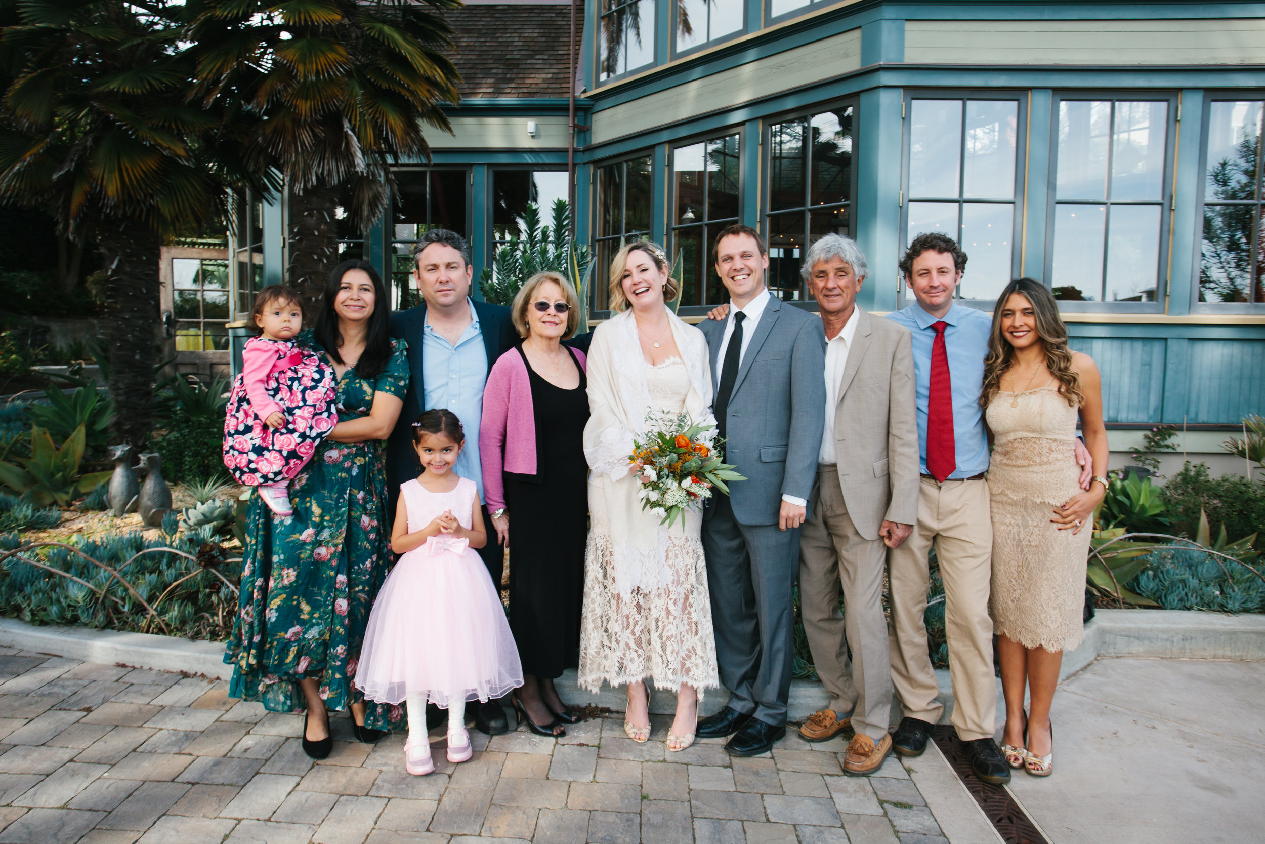Our family has grown! From left to right: Emma, Claudia, Alicia, Michael, Suzanne, Anna, Pete, Alvaro, Chris and Vivian! Photo: Kathryn Parrott