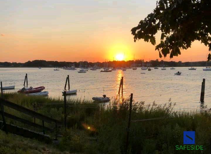 Beautiful sunset in Old Saybrook Connecticut